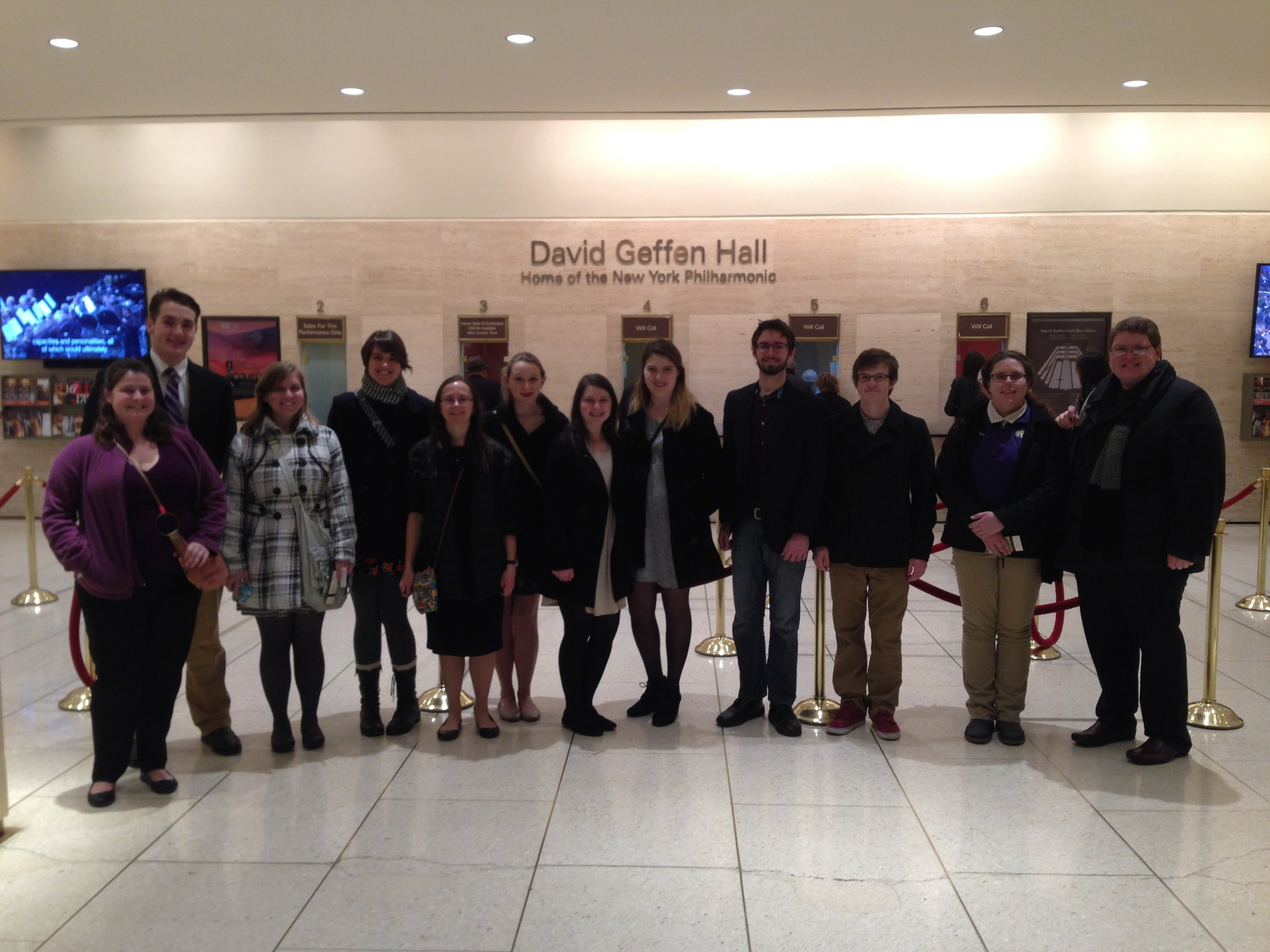 Our students after NY Phil Concert at David Geffen Hall