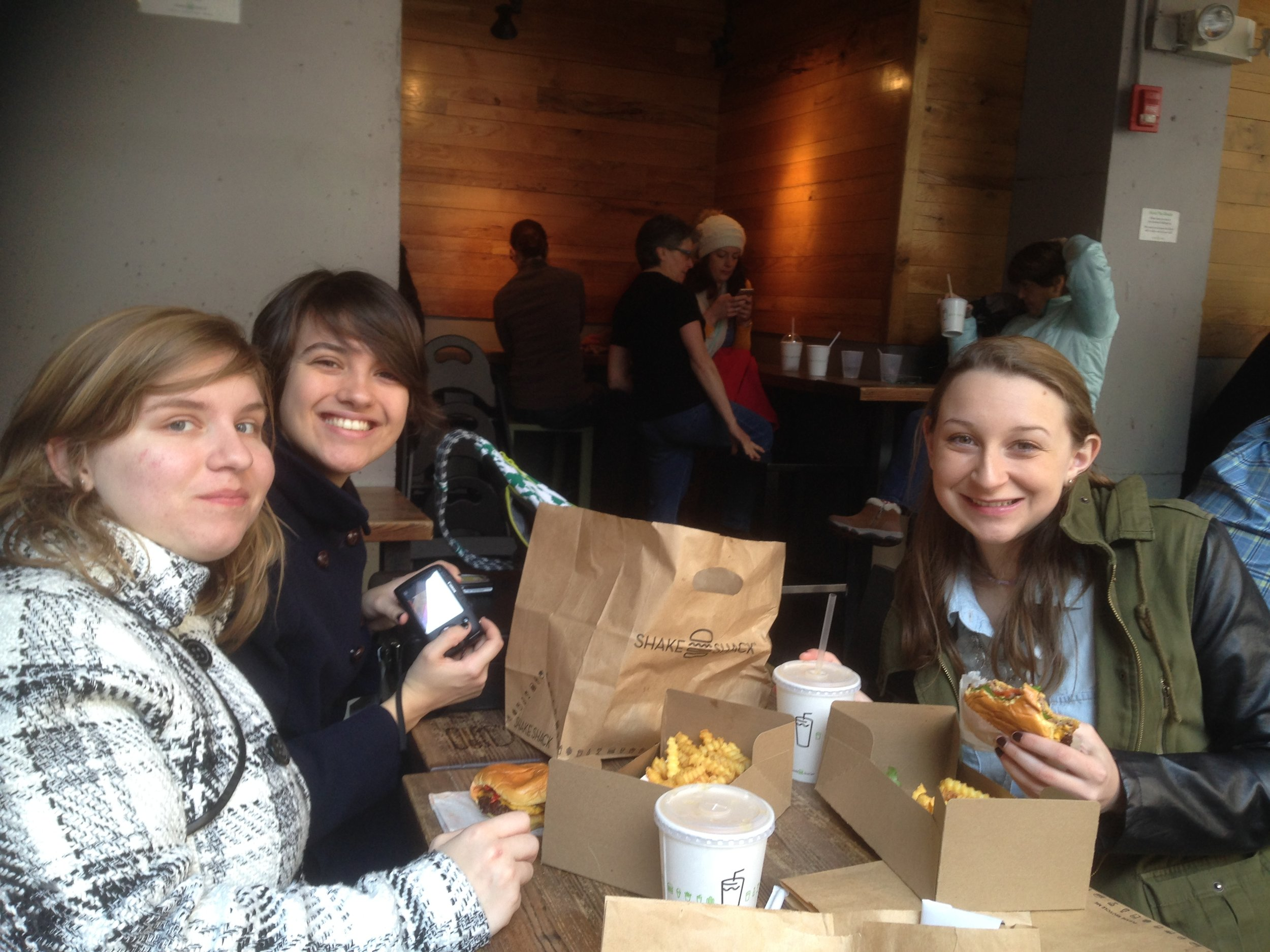 Being happy at Shake Shack!
