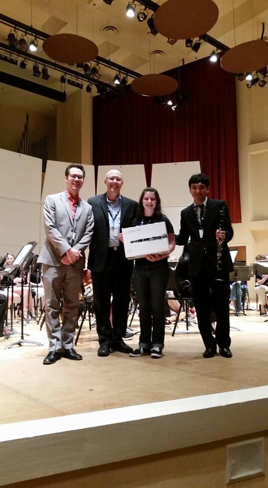 Lena Fomenko, TTU Sophomore Clarinet Major, is awarded the inaugural TTU-Buffet Clarinet Prize!
