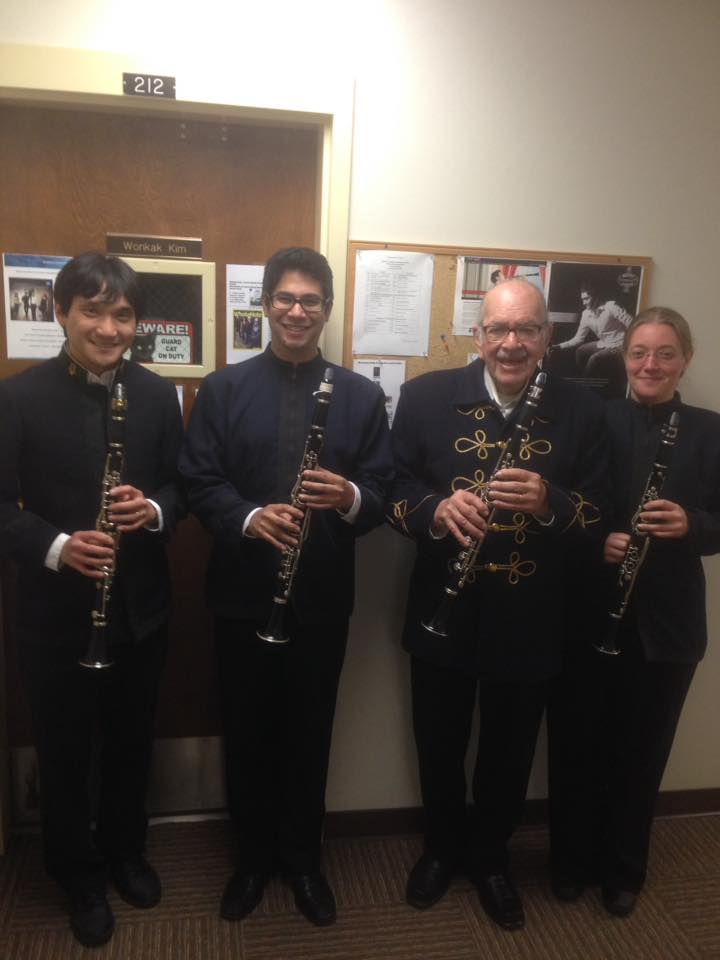 Clarinet Section of the NVCB!