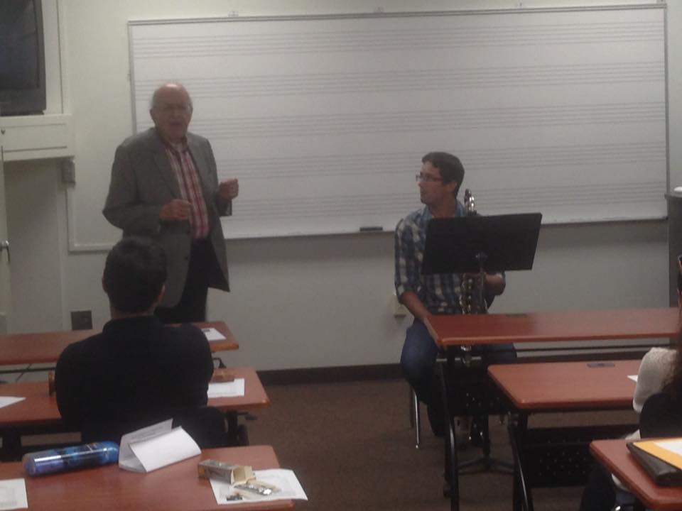 The legendary bass clarinetist passing down some of his wisdom to my students!