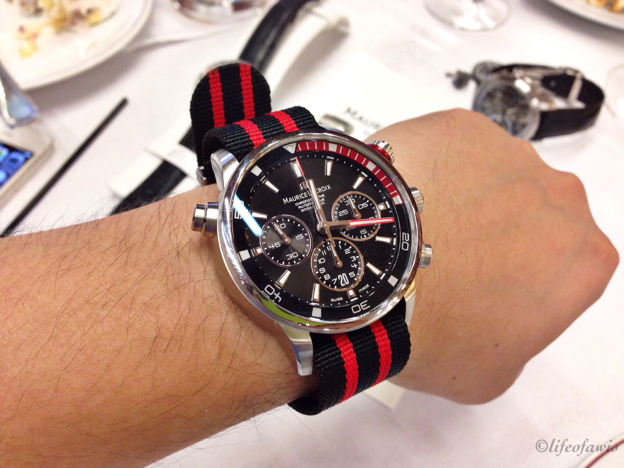 Red Pontos S with a quick date set.
