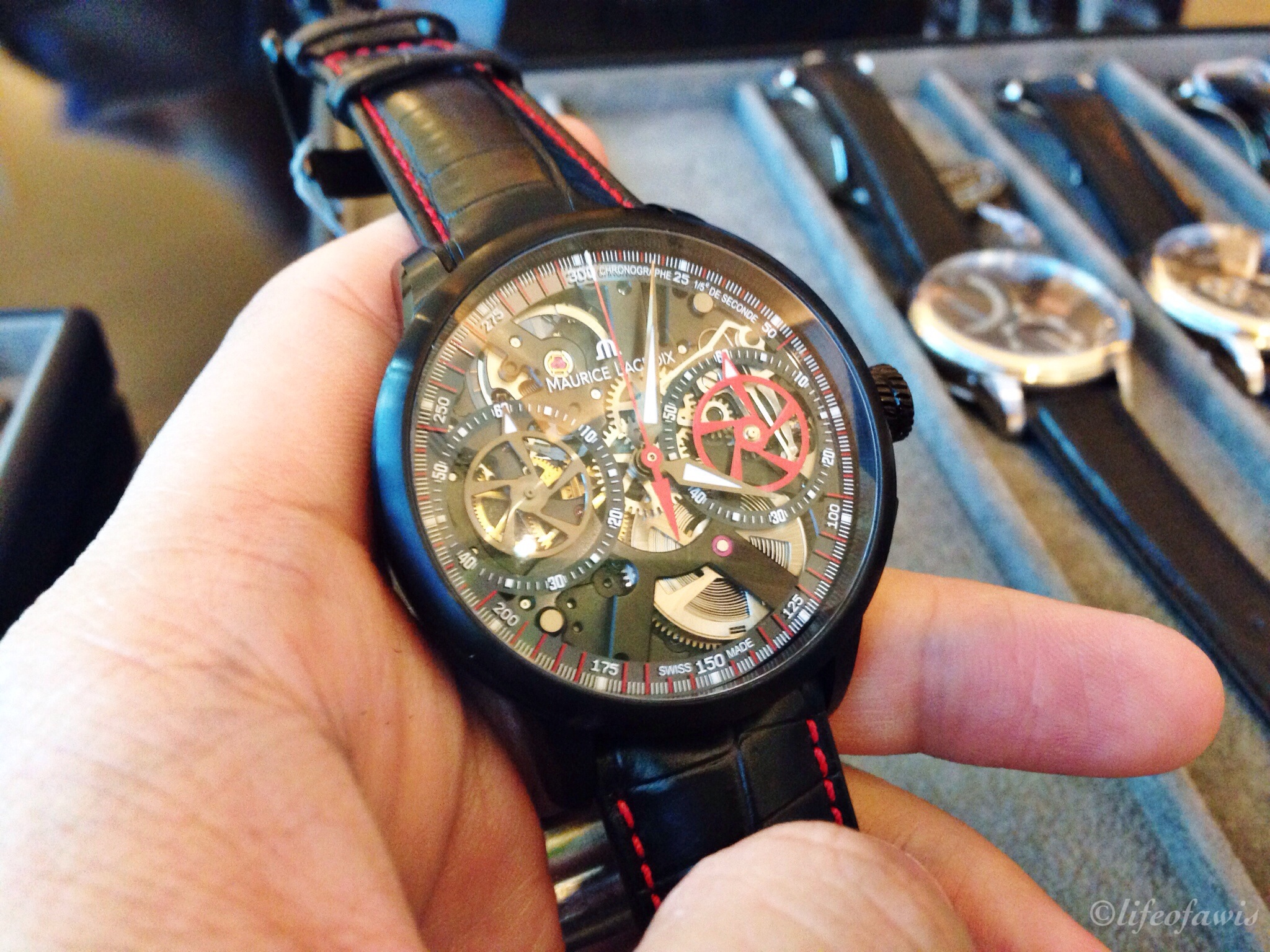 Masterpiece Limited Edition Chronographe Squelette. Limited to 188 pieces.
