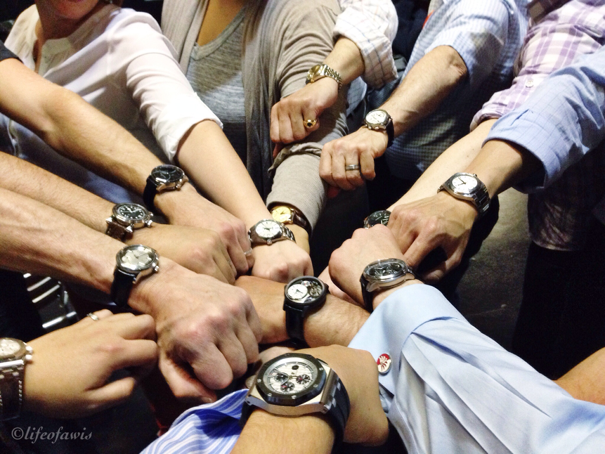 Group wrist shot.