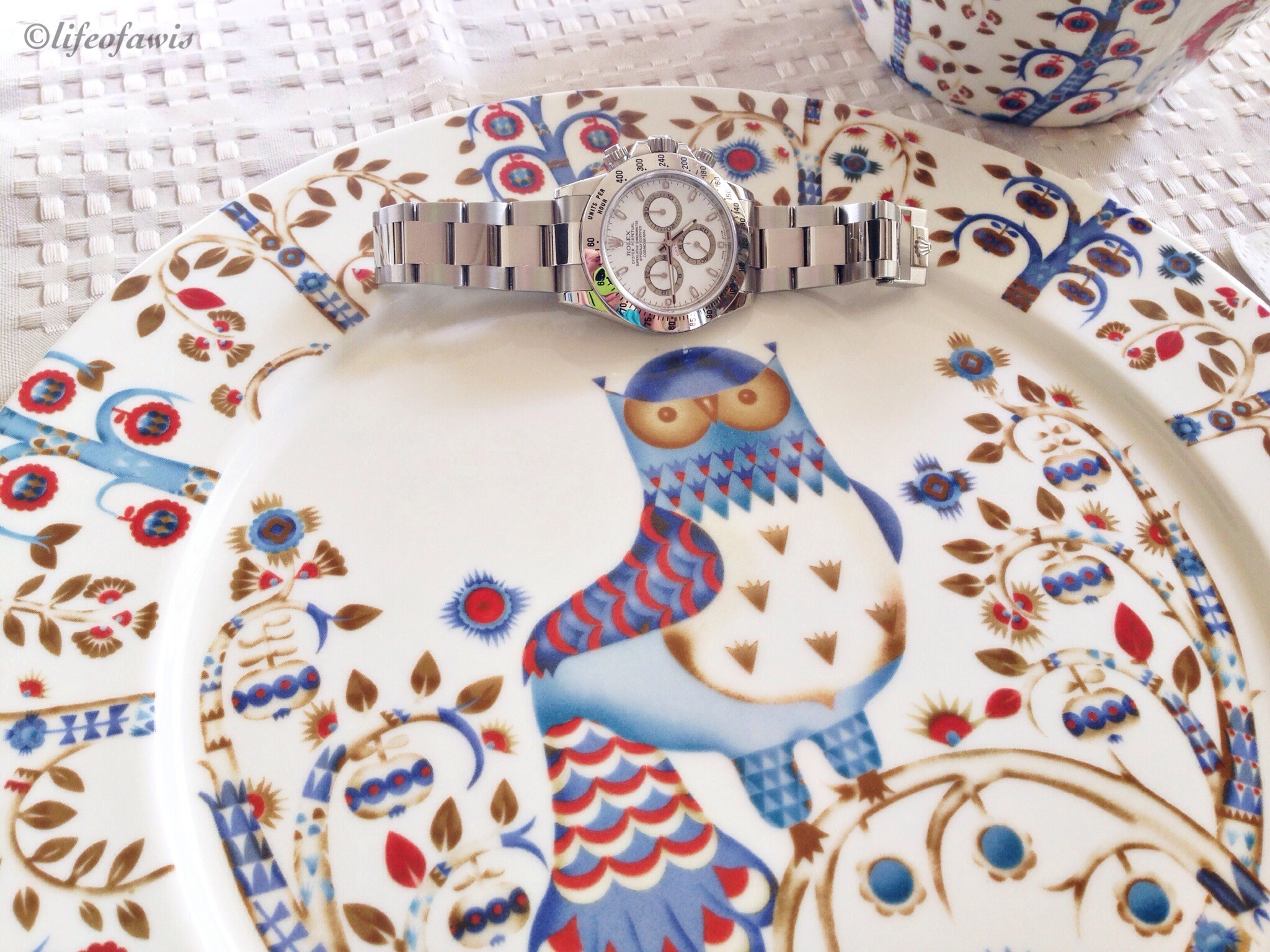 Love the print on our China.
