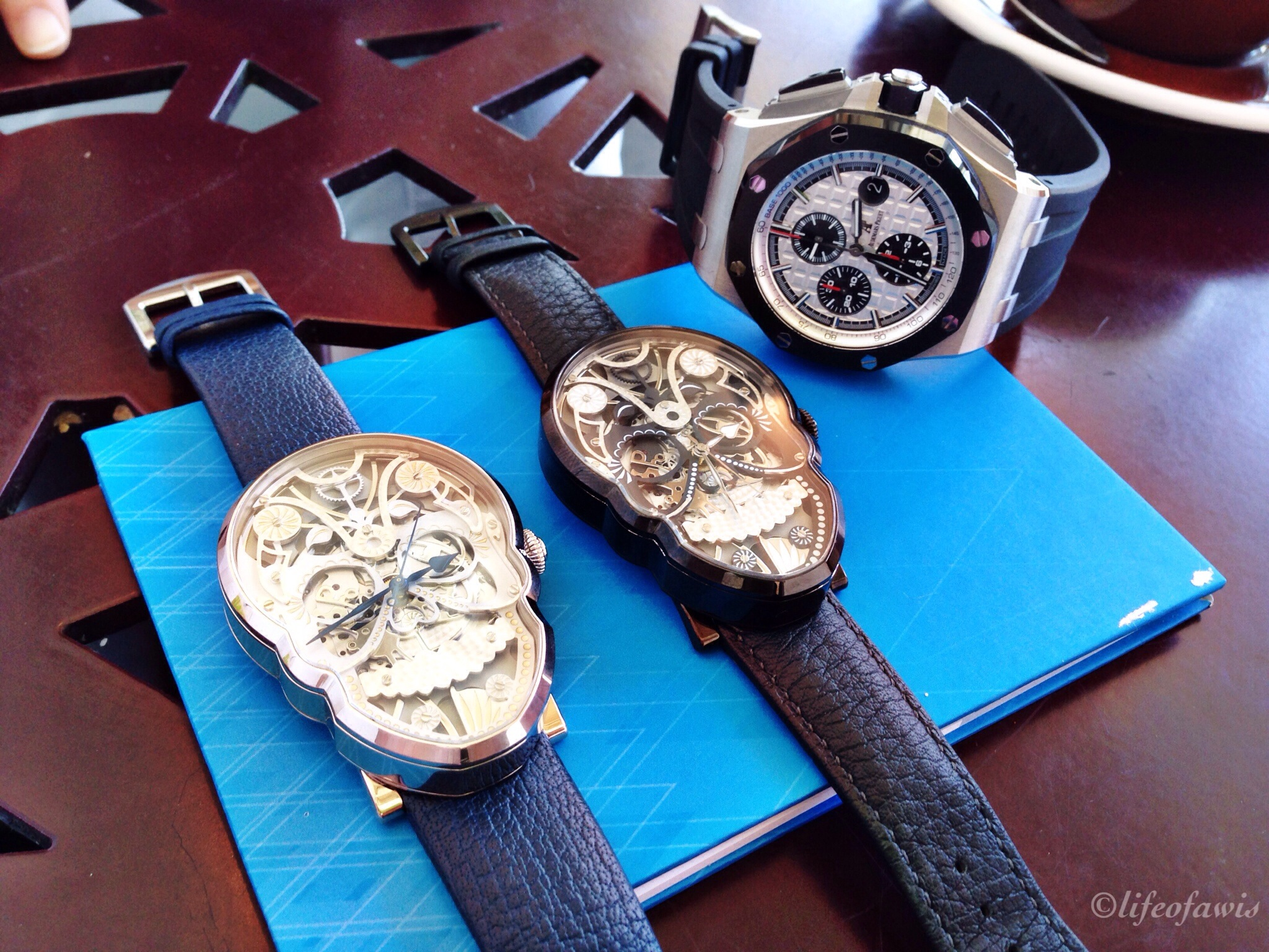 The SKULL timepieces with my Audemars Piguet.