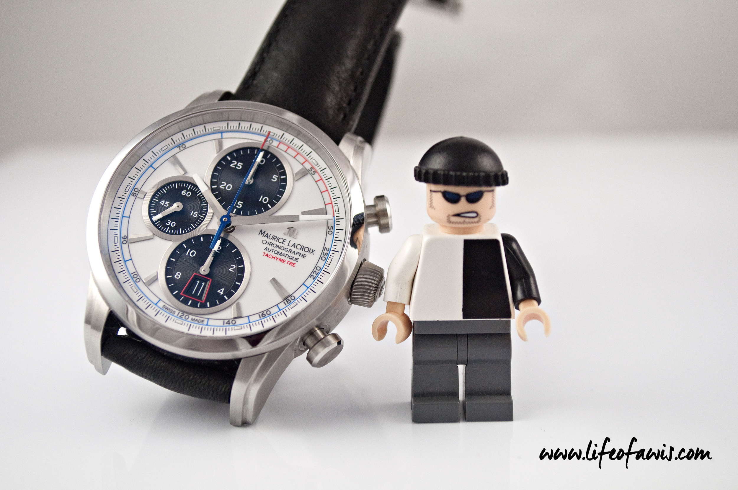 Beware of that Lego figure... I think he likes the Pontos Chronograph as well.
