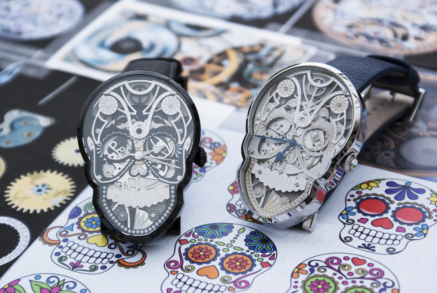 """The Skull and Black Skull watches are in part inspired by the """"Dia de los Muertos"""" celebration in Mexico."""