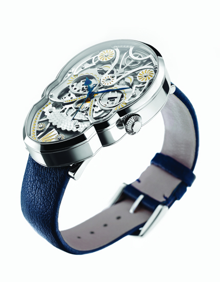 Side profile, only watch available today that is actually shaped as a skull.