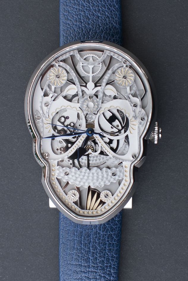 The Skull watch in stainless steel.