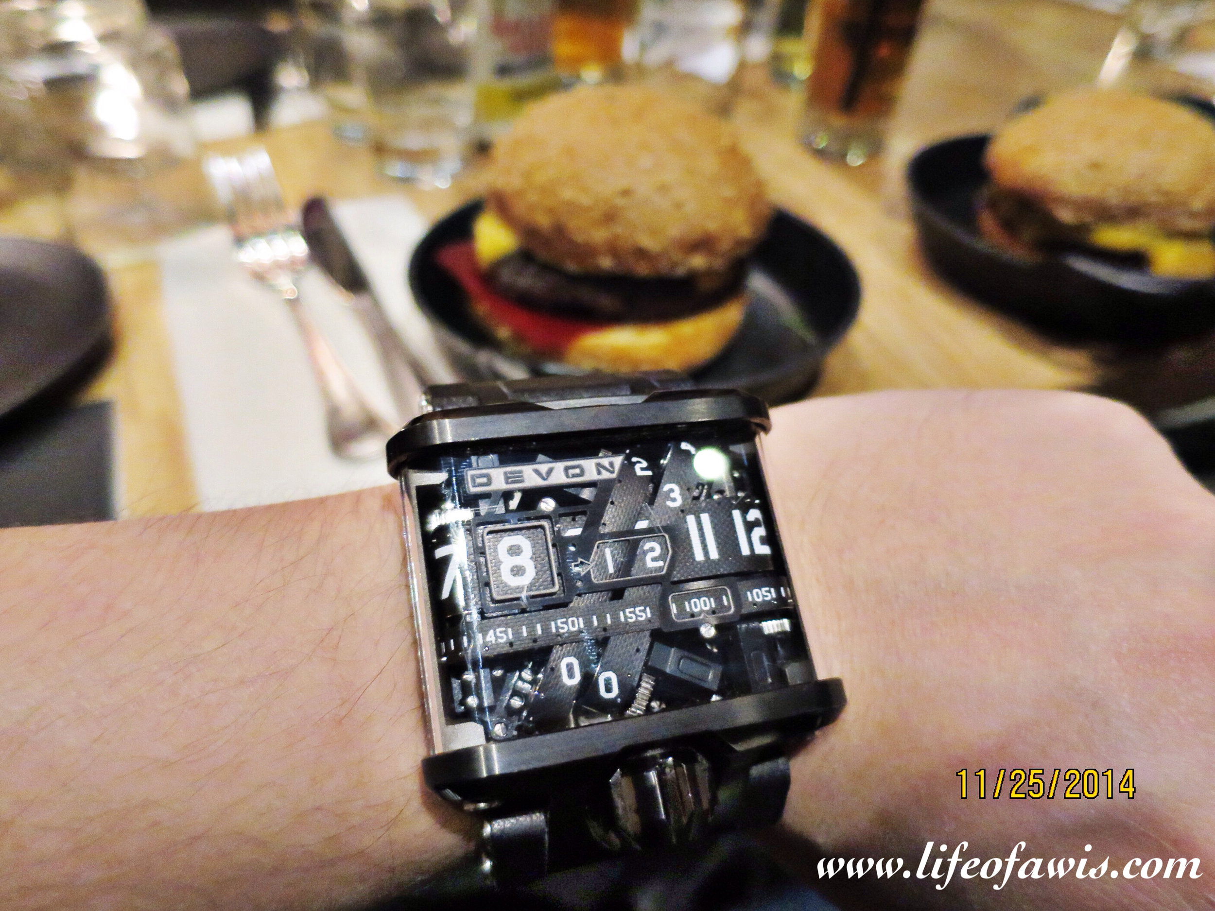 The Devon Works timepieces were awesome... and the burgers too!
