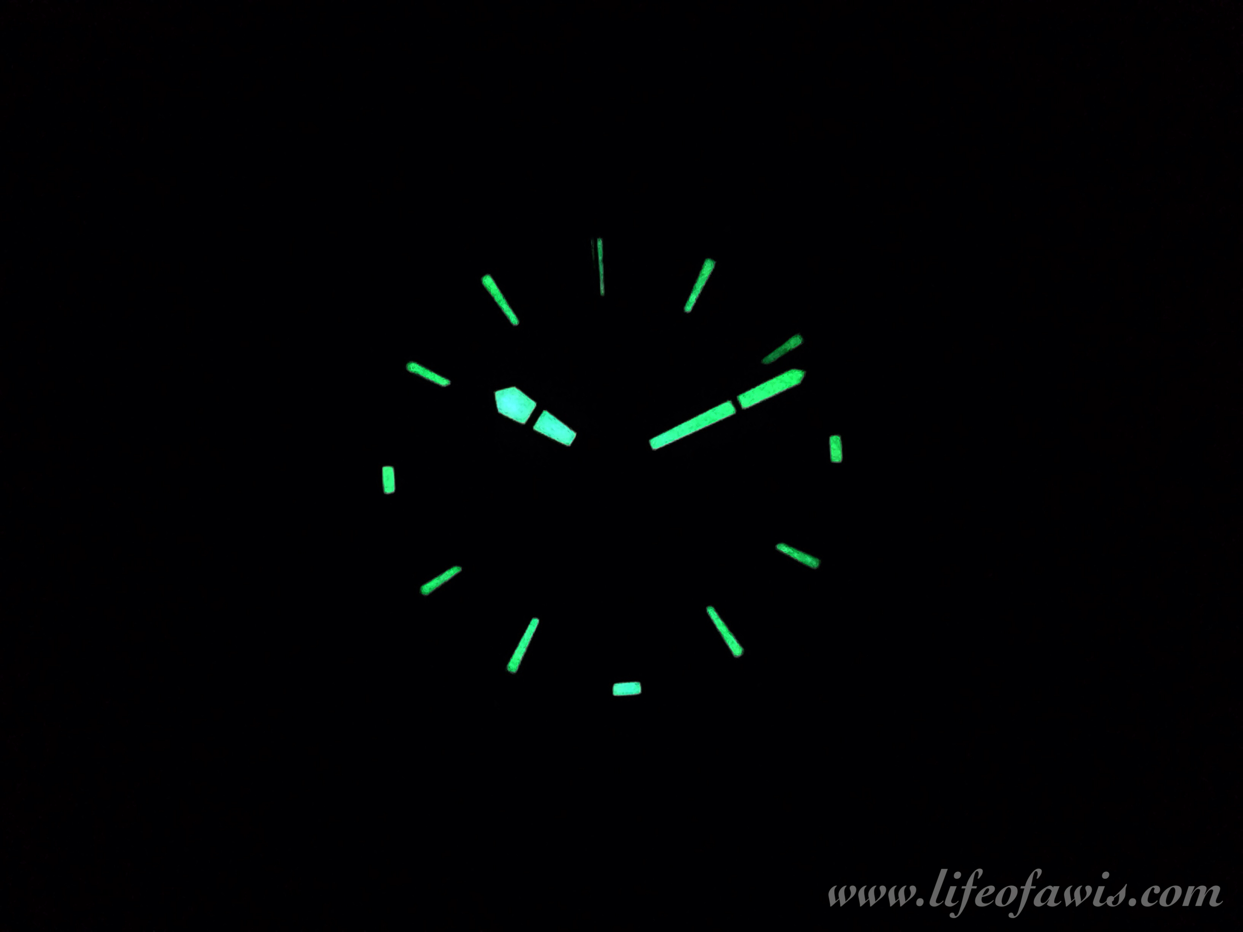 Lume is strong, just do not expect to use the chronograph function in the dark.