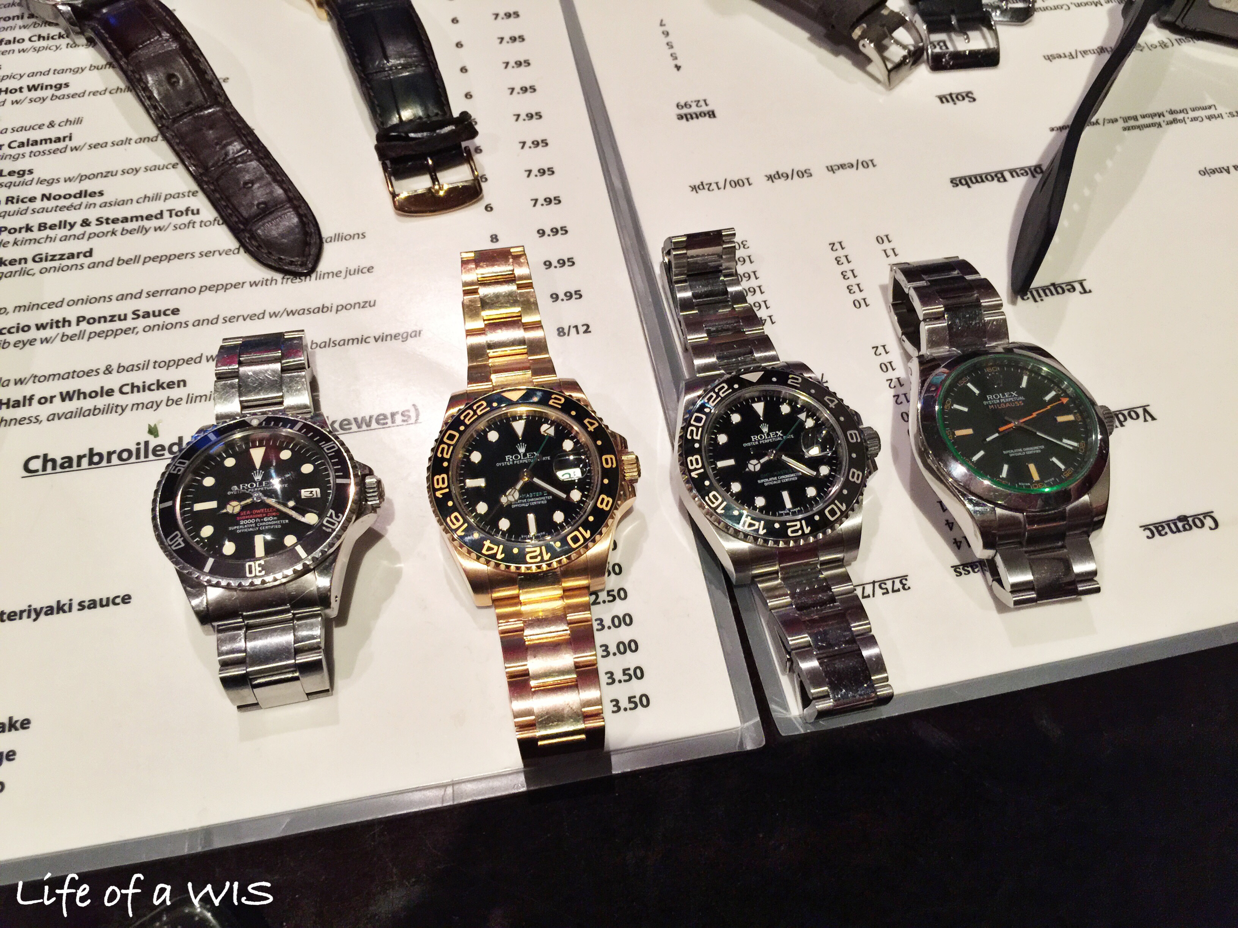 Four different Rolexes... all beautiful.