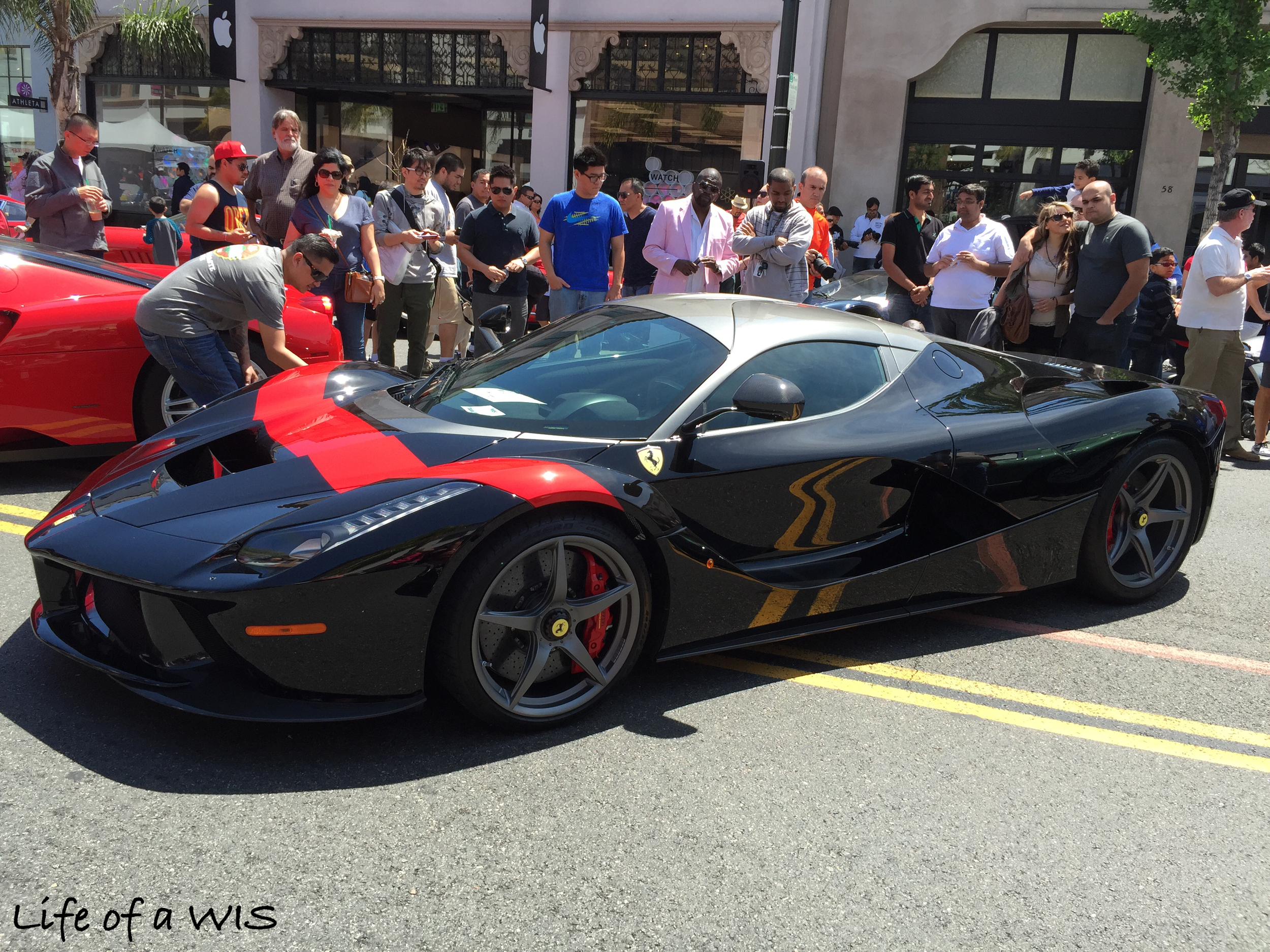 The show stopper? This gorgeous La Ferrari...