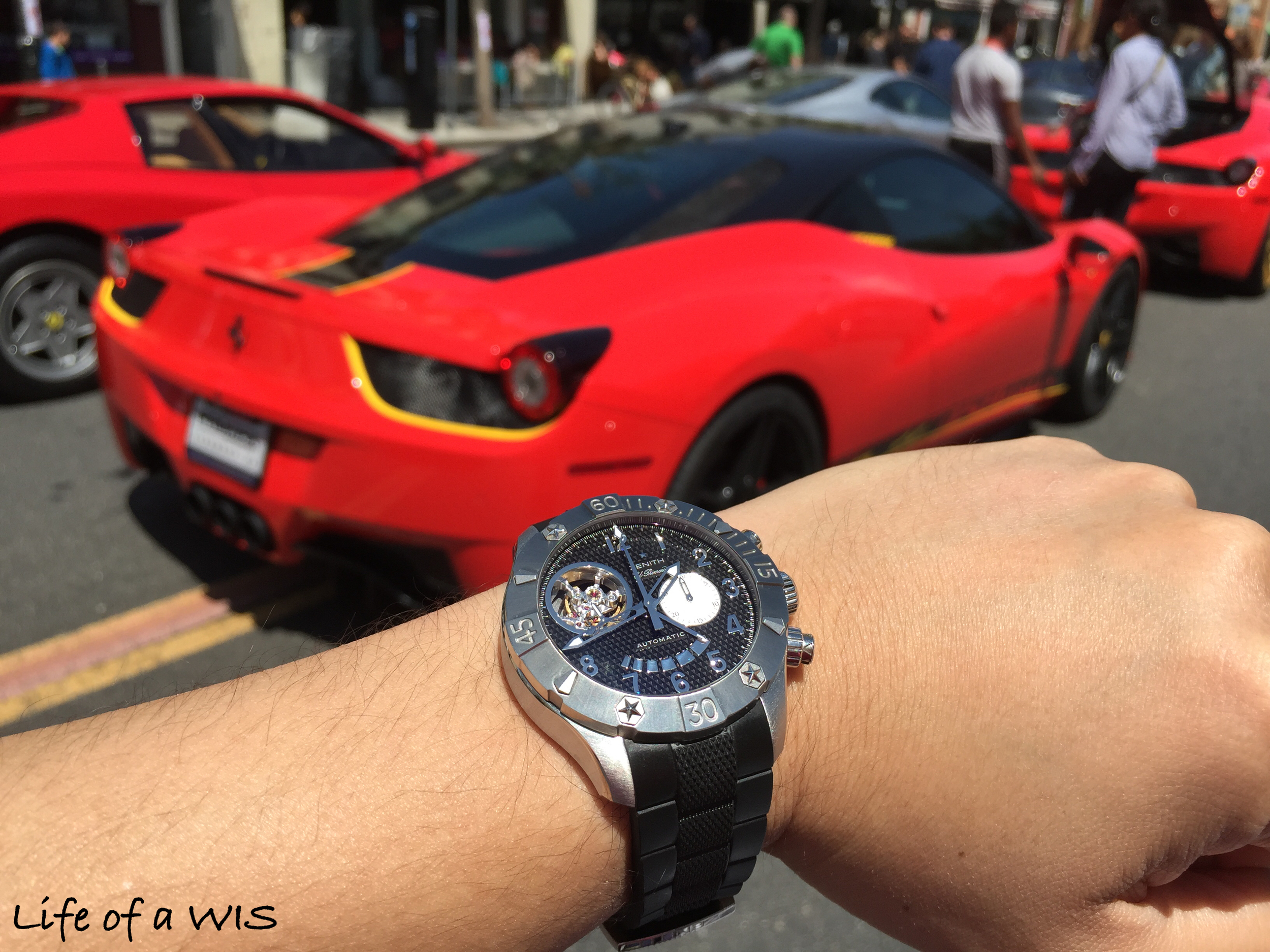 My Zenith and a 458 Italia.