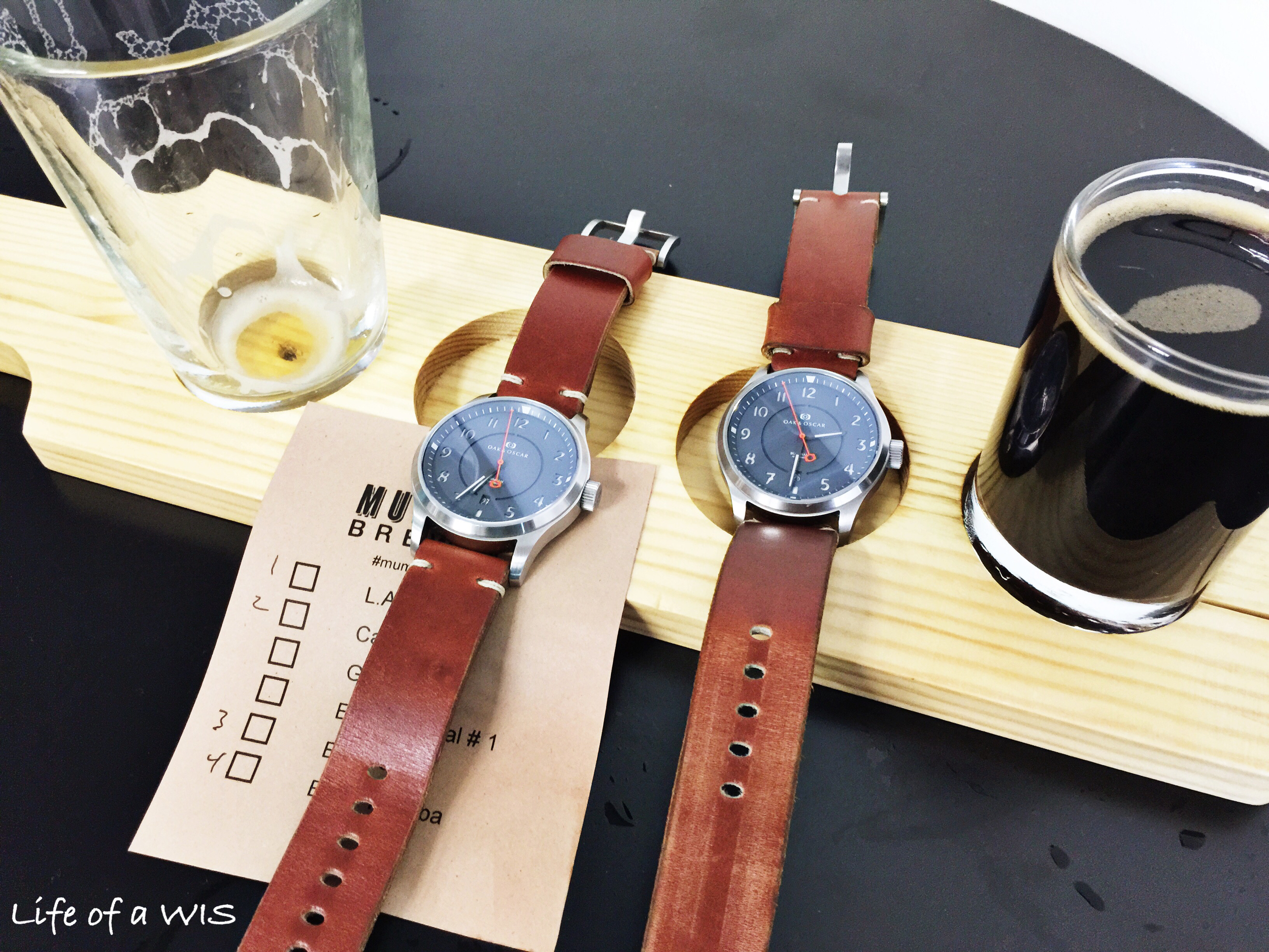 The Horween leather strap is perfect for this watch.