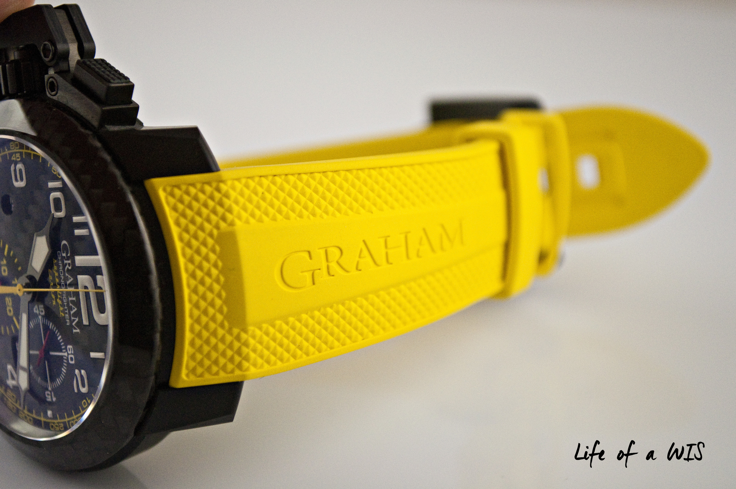 Despite its large size, this Graham is very comfortable on the wrist.