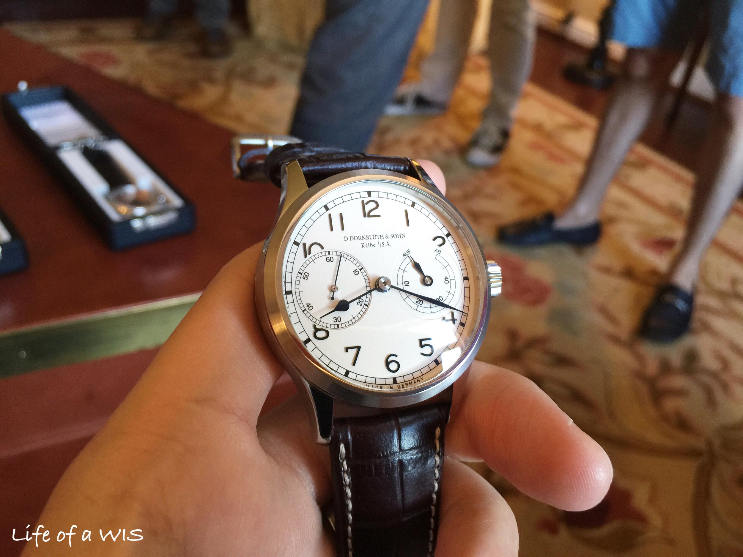 A very clean dial on the D. Dornbluth & Sohn 99.2, $6,460.