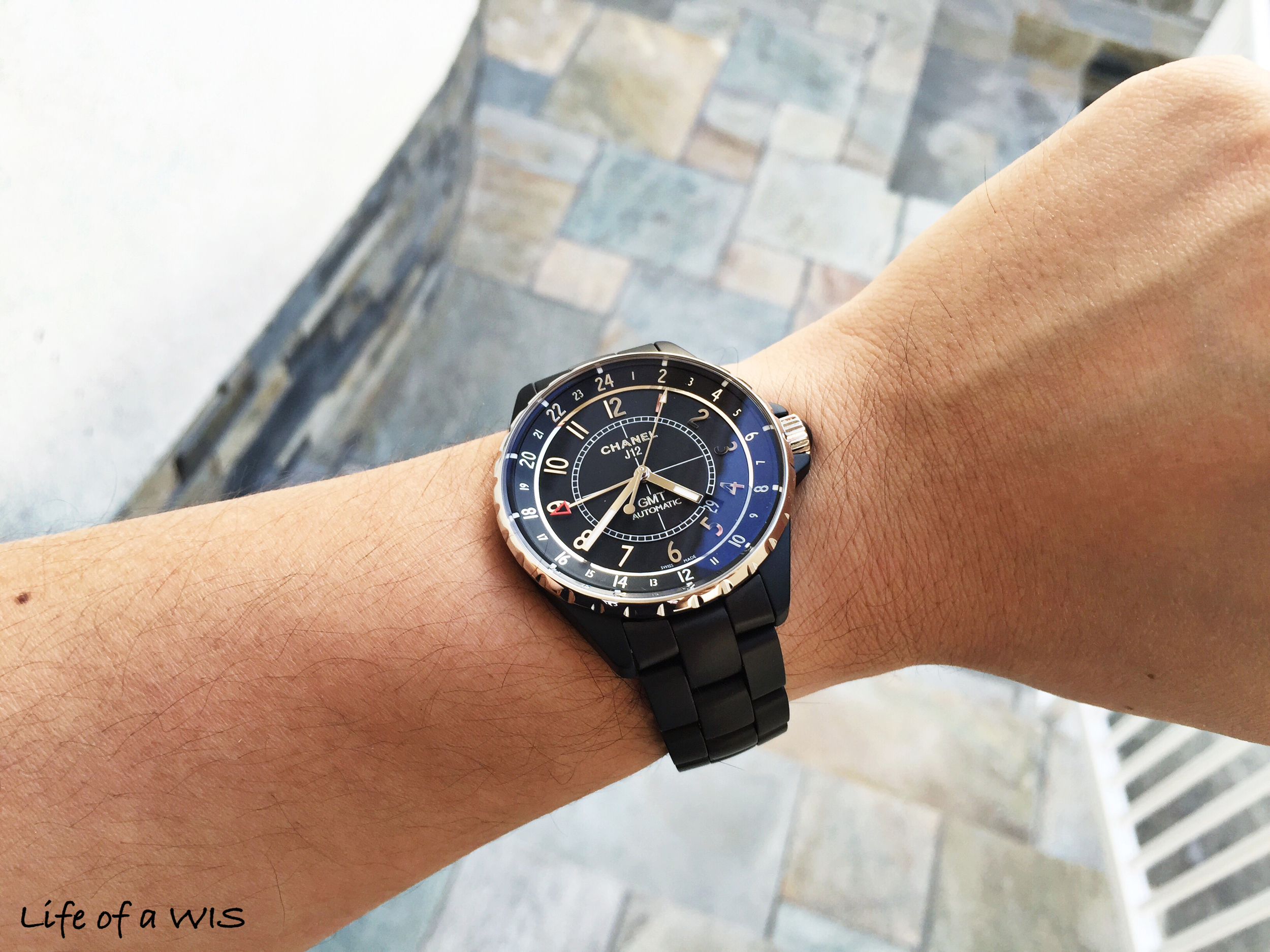 If you want a black watch, ceramic is the way to go.