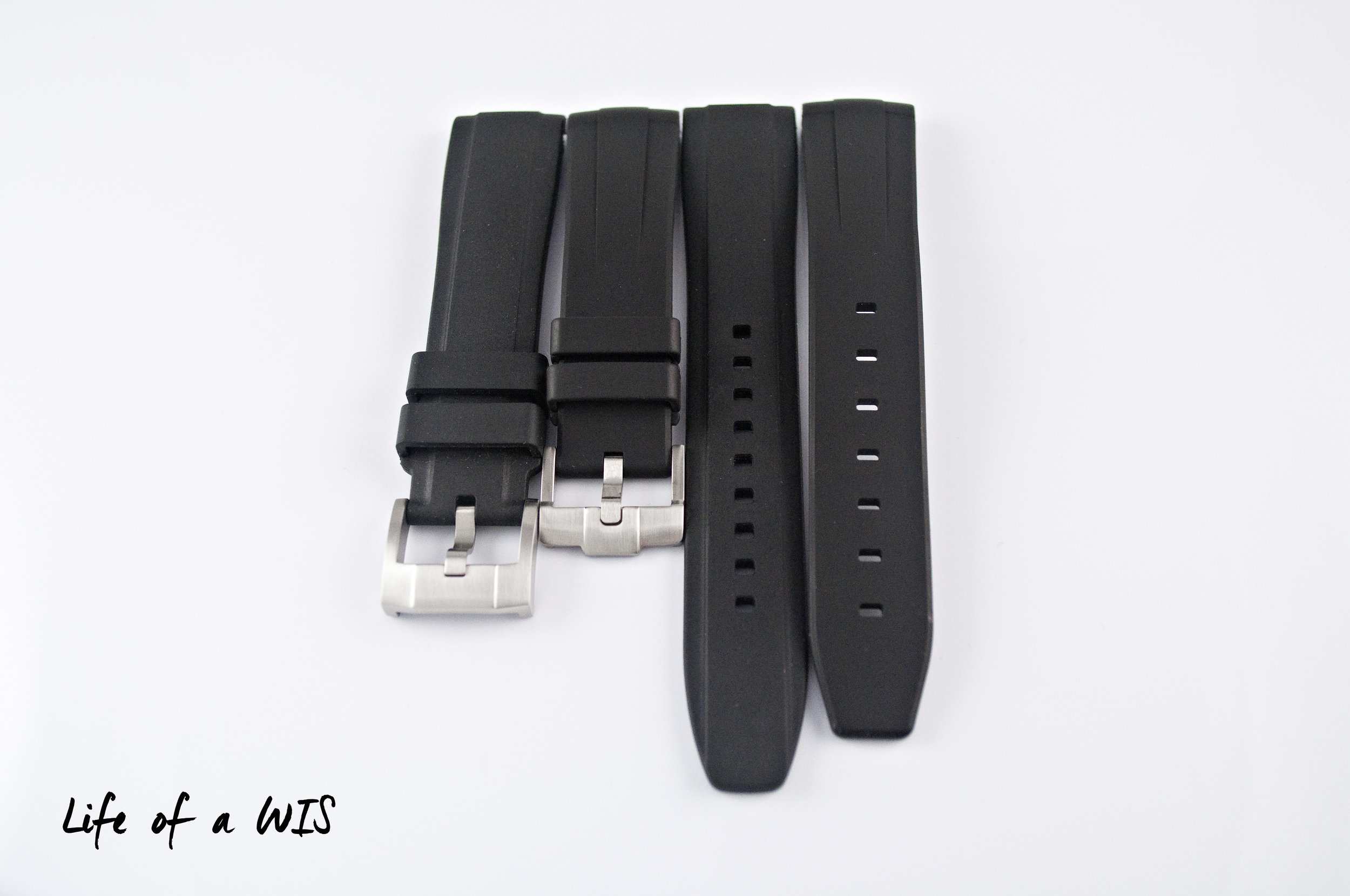 The Everest strap is 10 mm longer on each side compared to Rubber B.
