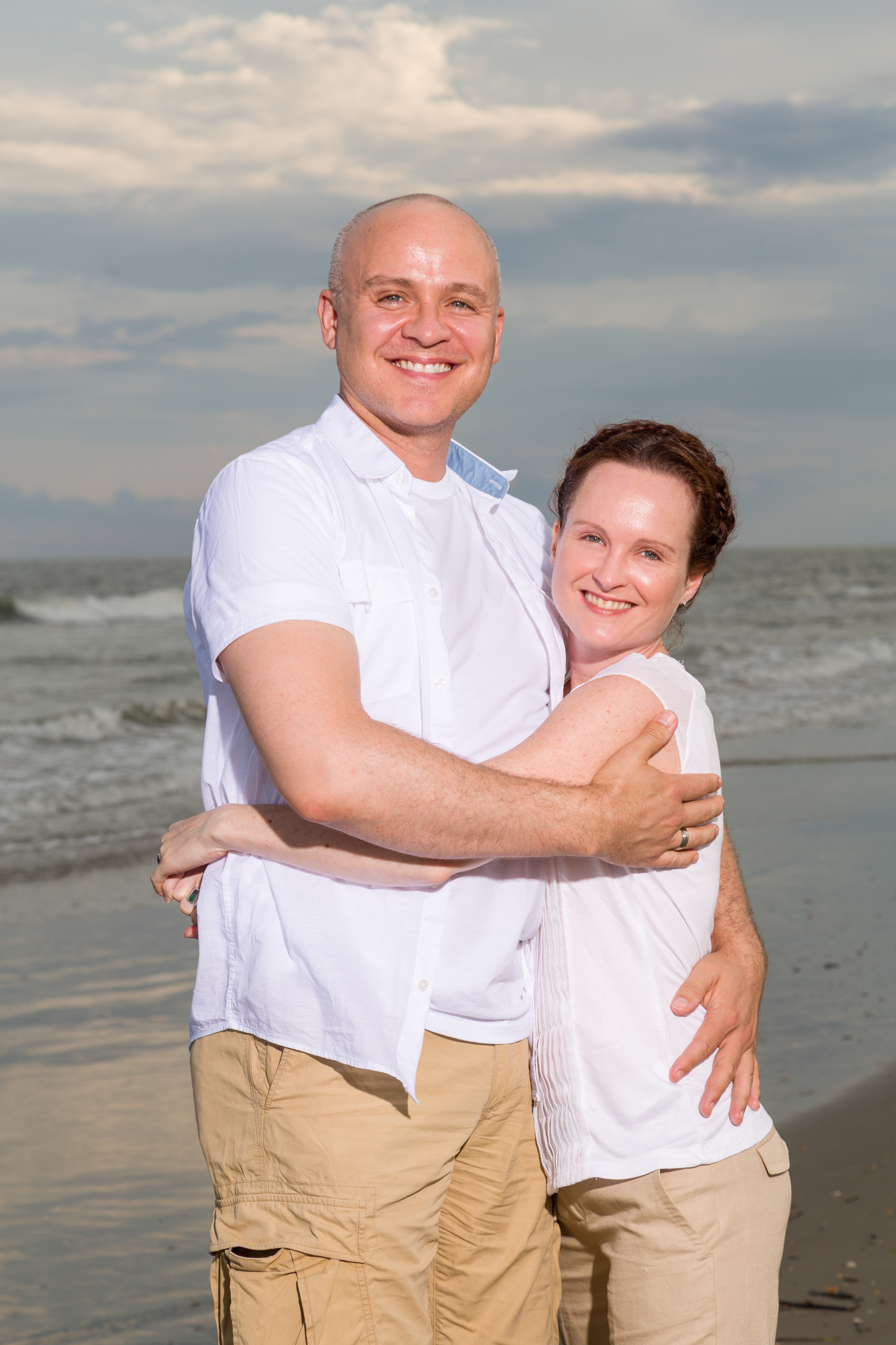 Me and my partner Andrew at the beach in Isle of Palms, SC