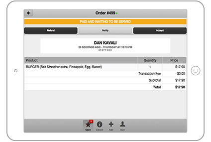 Using a cashless &convenient ordering platformallows YQ  to manage the order and the payment for you, leaving youto focus on what youdo best, providing great food and service.