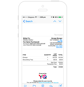 You don't need your card to order on YQ so whydoyouneedapaperreceipt?YQemailsyou the GST receipt on the next business day. Save the environment one order at a time using YQ.