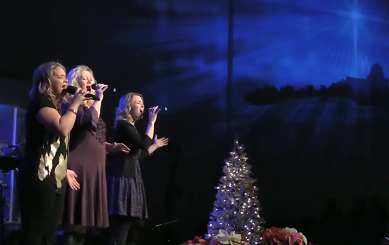"I had the pleasure of singing ""Hallelujah (light has come)"" by BarlowGirl with my friends, Rena and Donna. It is one of my favorite Christmas songs!! You can listen to it  here , around 8:20."