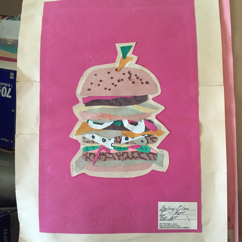pop art hamburger