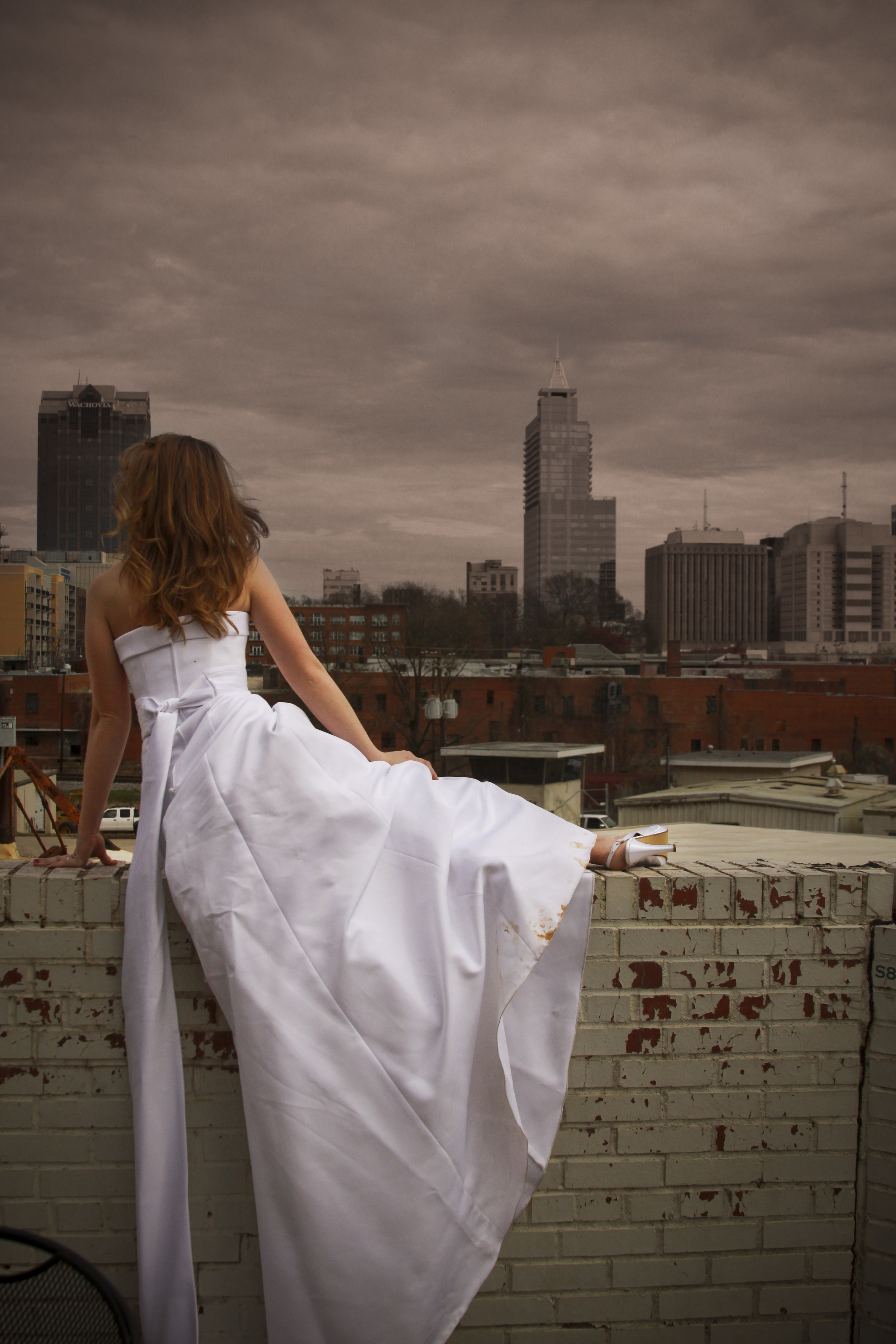 downtown raleigh trash the dress shoot