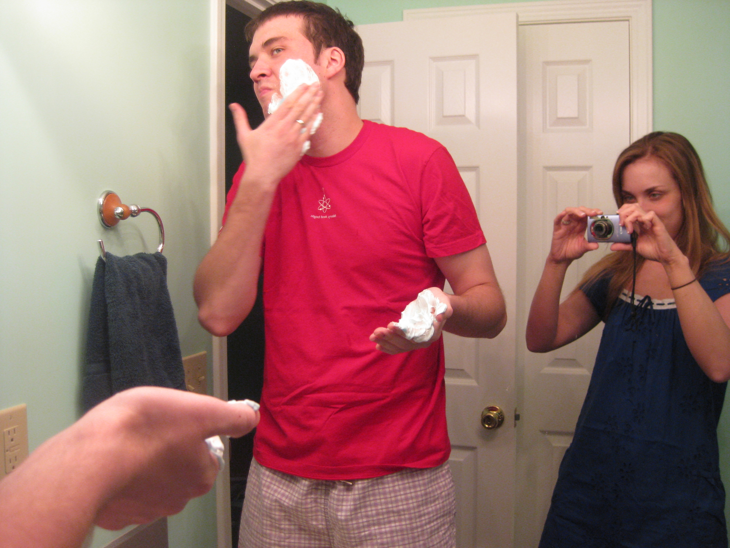 When you're newly married, even your husband shaving his face is interesting!