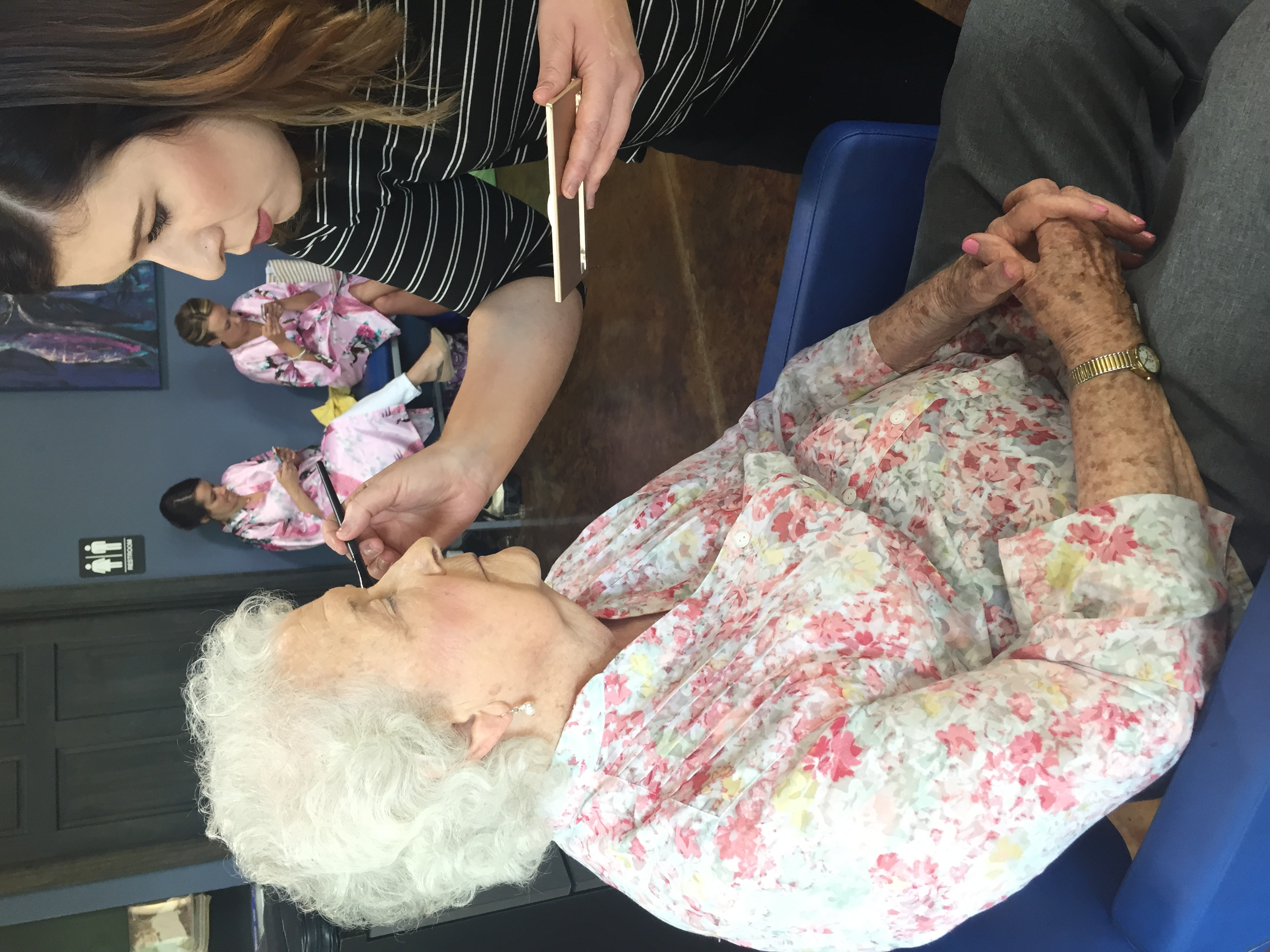Sarah treated her bridal party and the ladies in our family to either hair, makeup, or nail services. Even Grandma joined in on the fun!