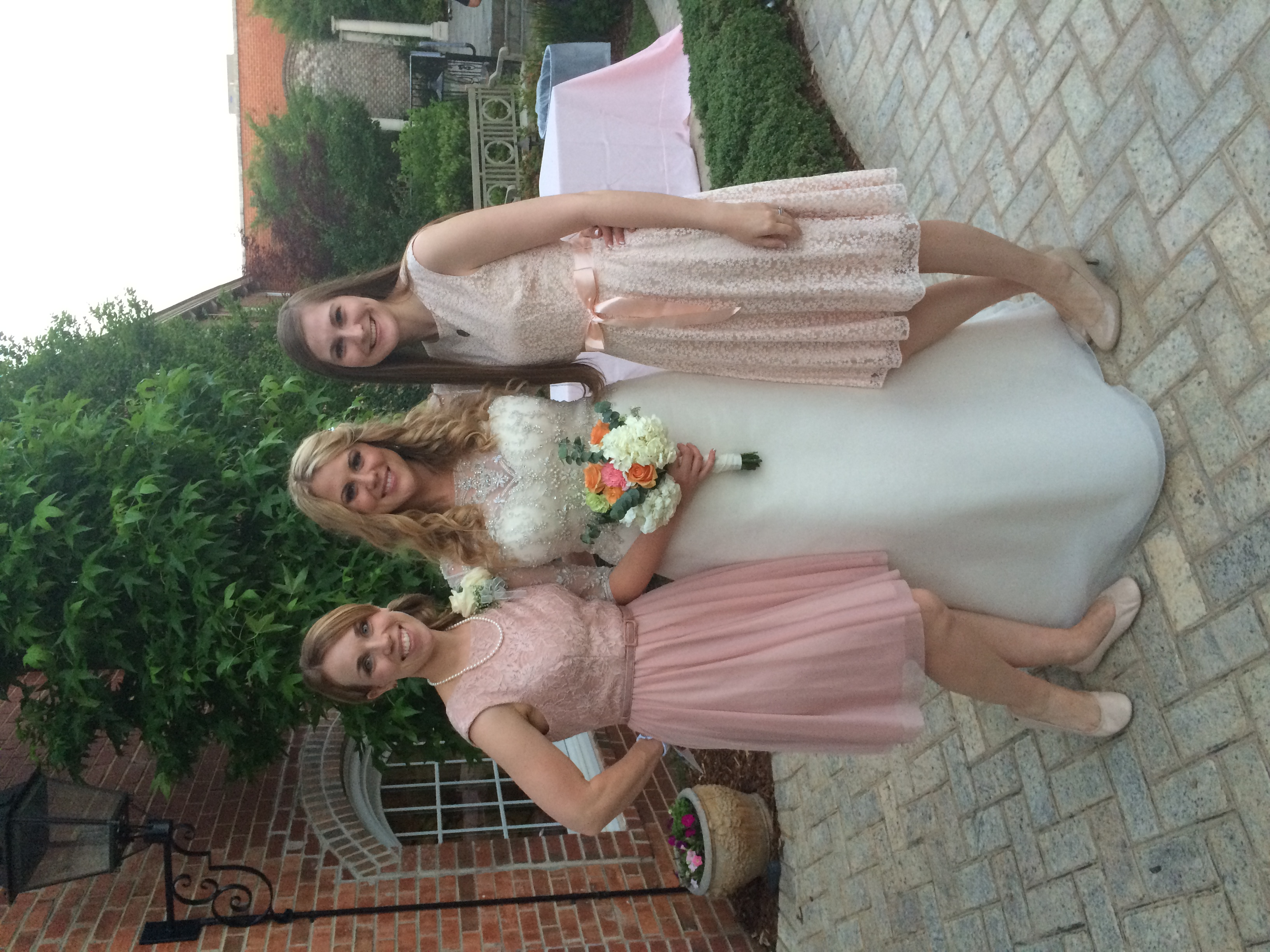 Me with the bride and our cousin, Christabel. It just hit me that they are both my brides! :) You can see Chistabel's wedding  here .