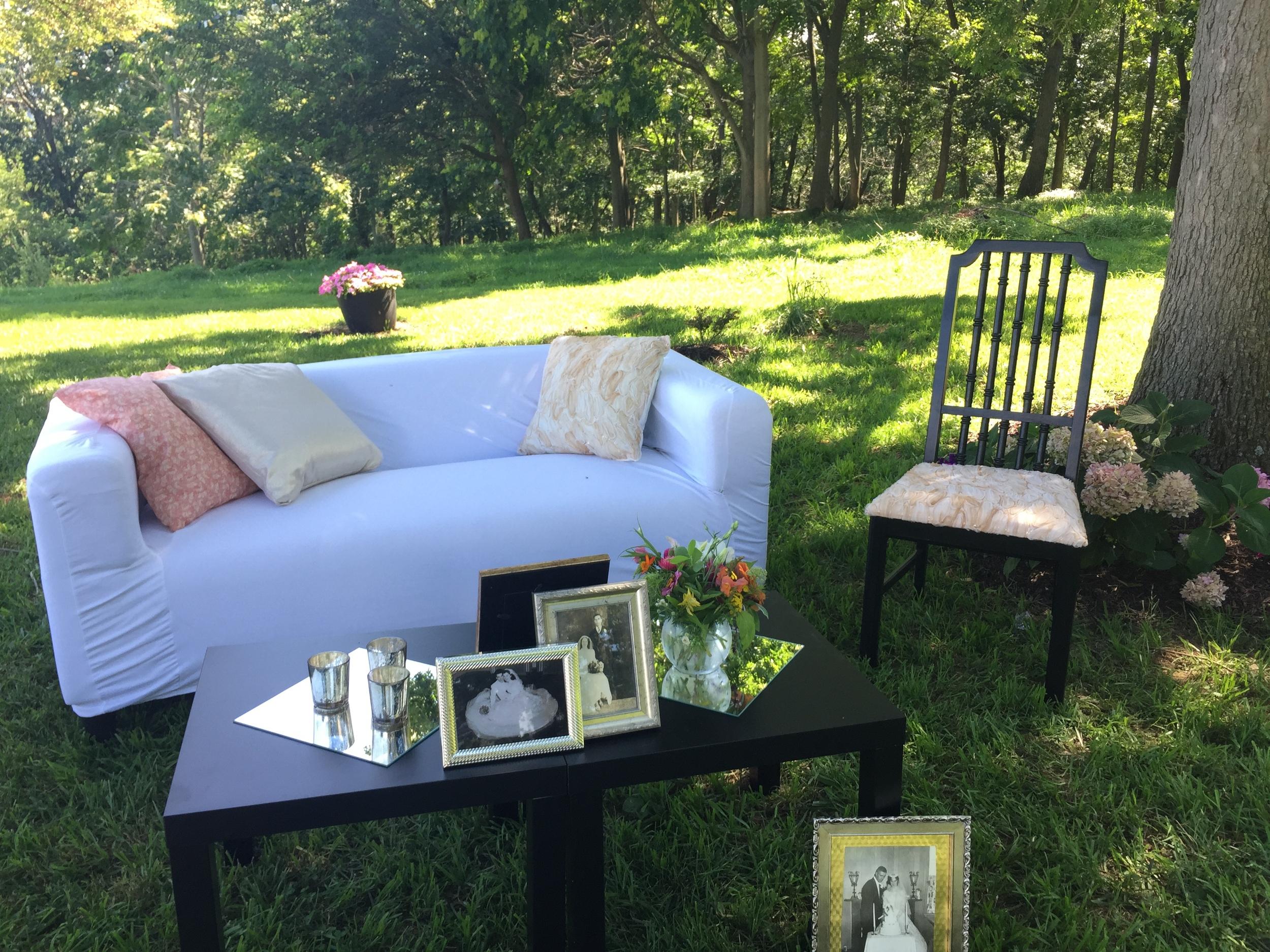 Kate Spade Wedding | wedding lounge | Sterling Dawn Events