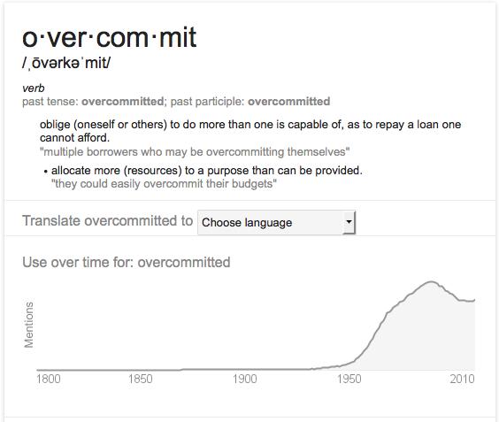 overcommit