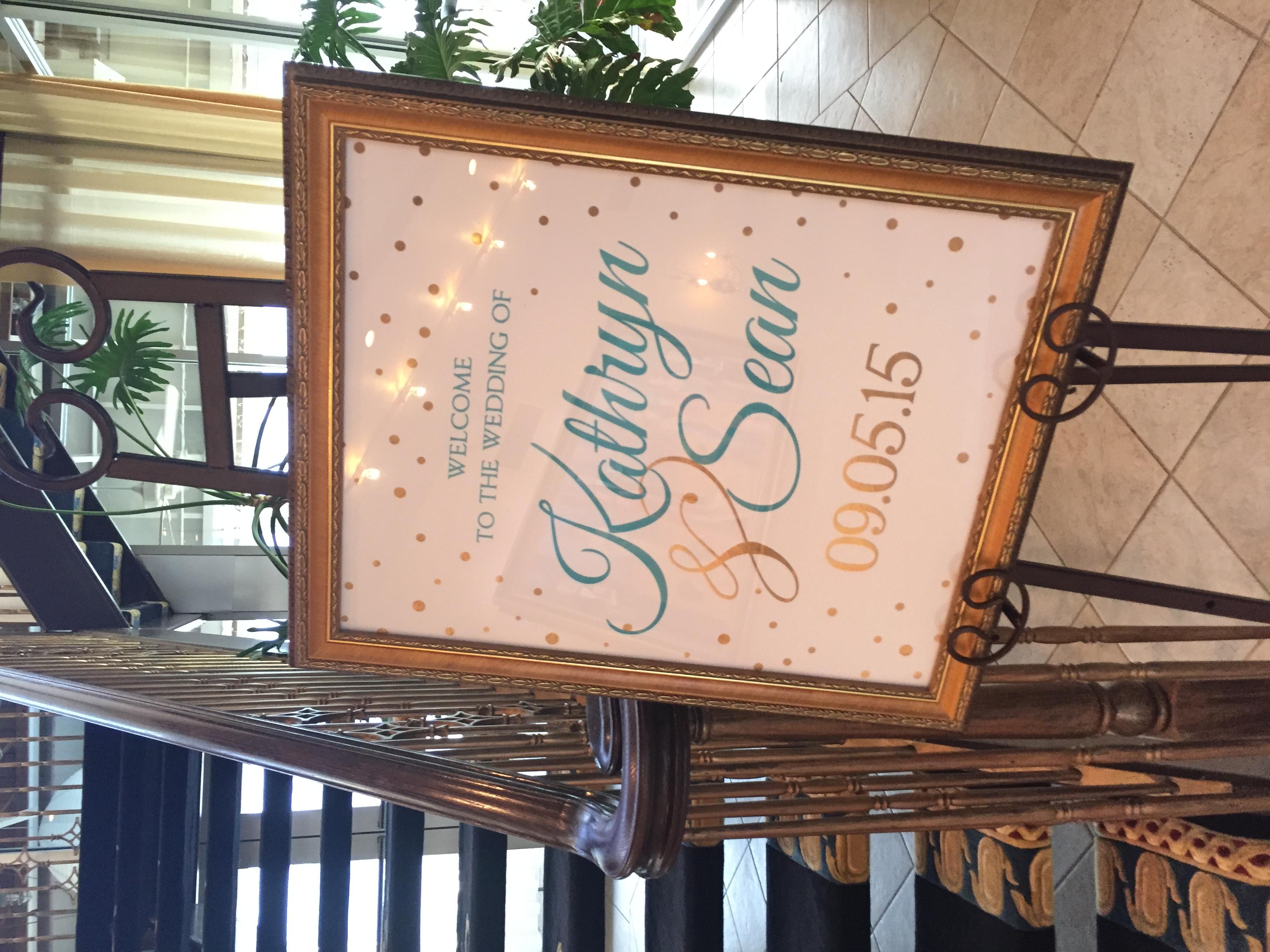 lesner inn wedding welcome sign