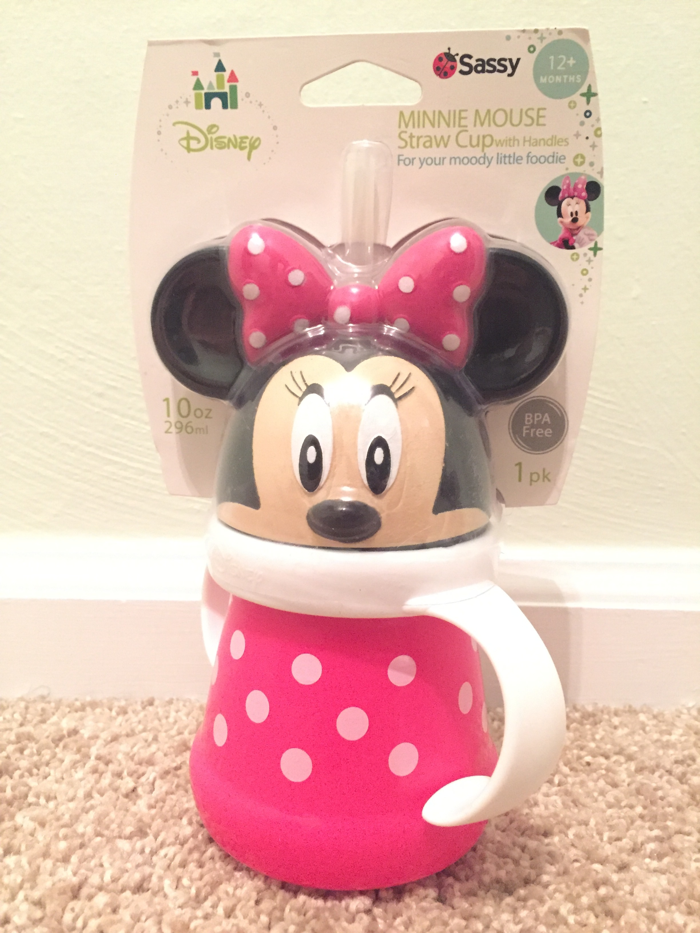 My friend, Angela, saw my post last week. I mentioned this sippy cup and she was sweet enough to pick it up for me (well, for baby)! Oh, the power of social media! ;)