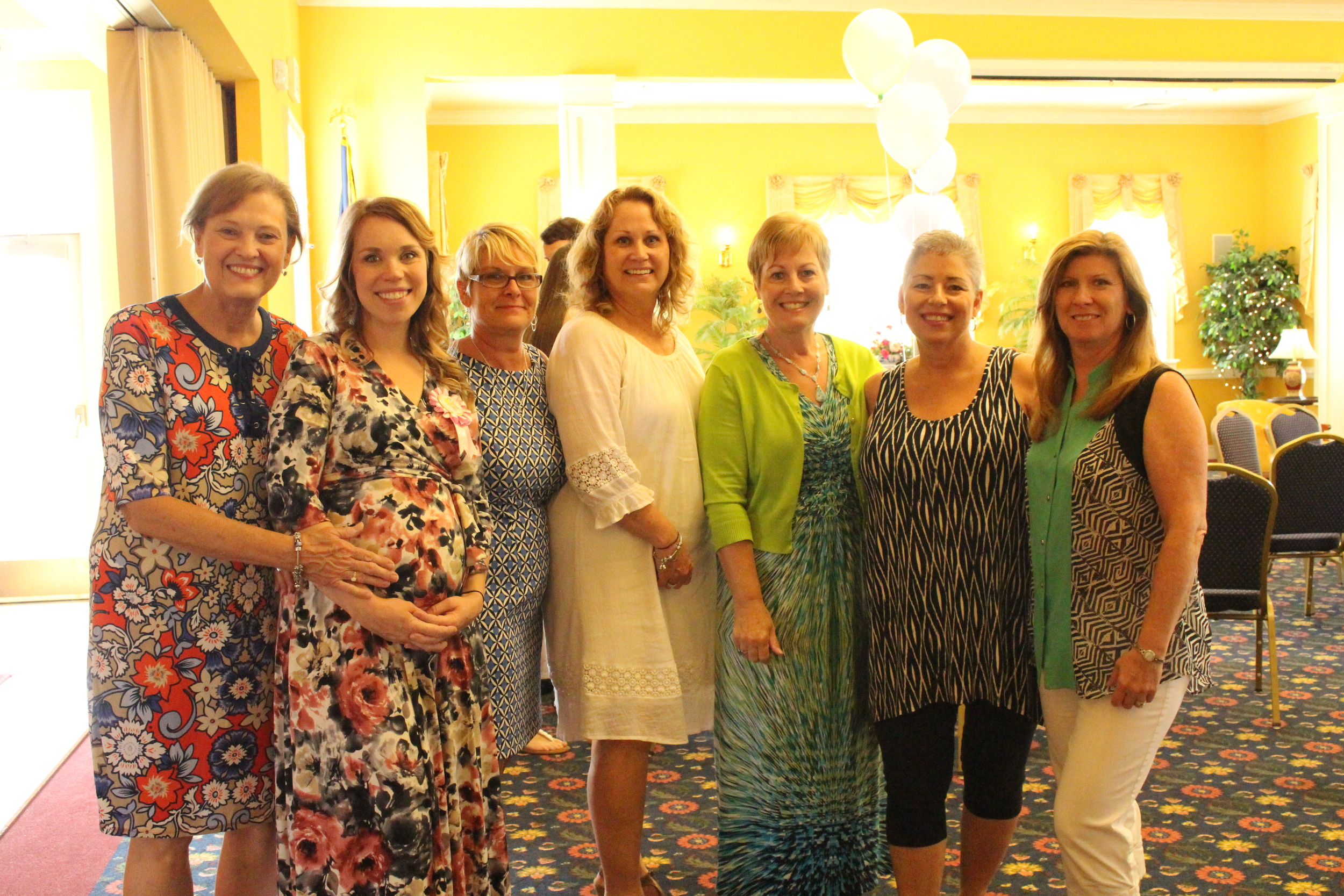 Me and the moms and aunts. There are a lot of clashing patterns in this shot. Haha! We need to work on our coordinating outfits!