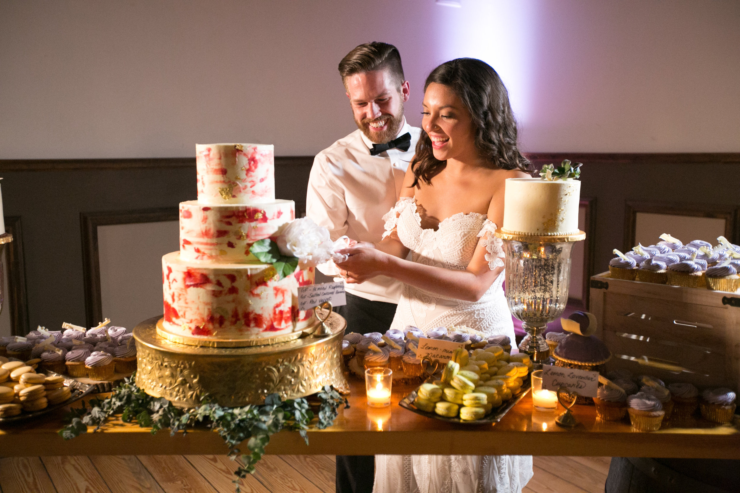 Hello, dessert bar!! Guests love options. By offering several choices, you're more likely to hit every guest's sweet tooth.