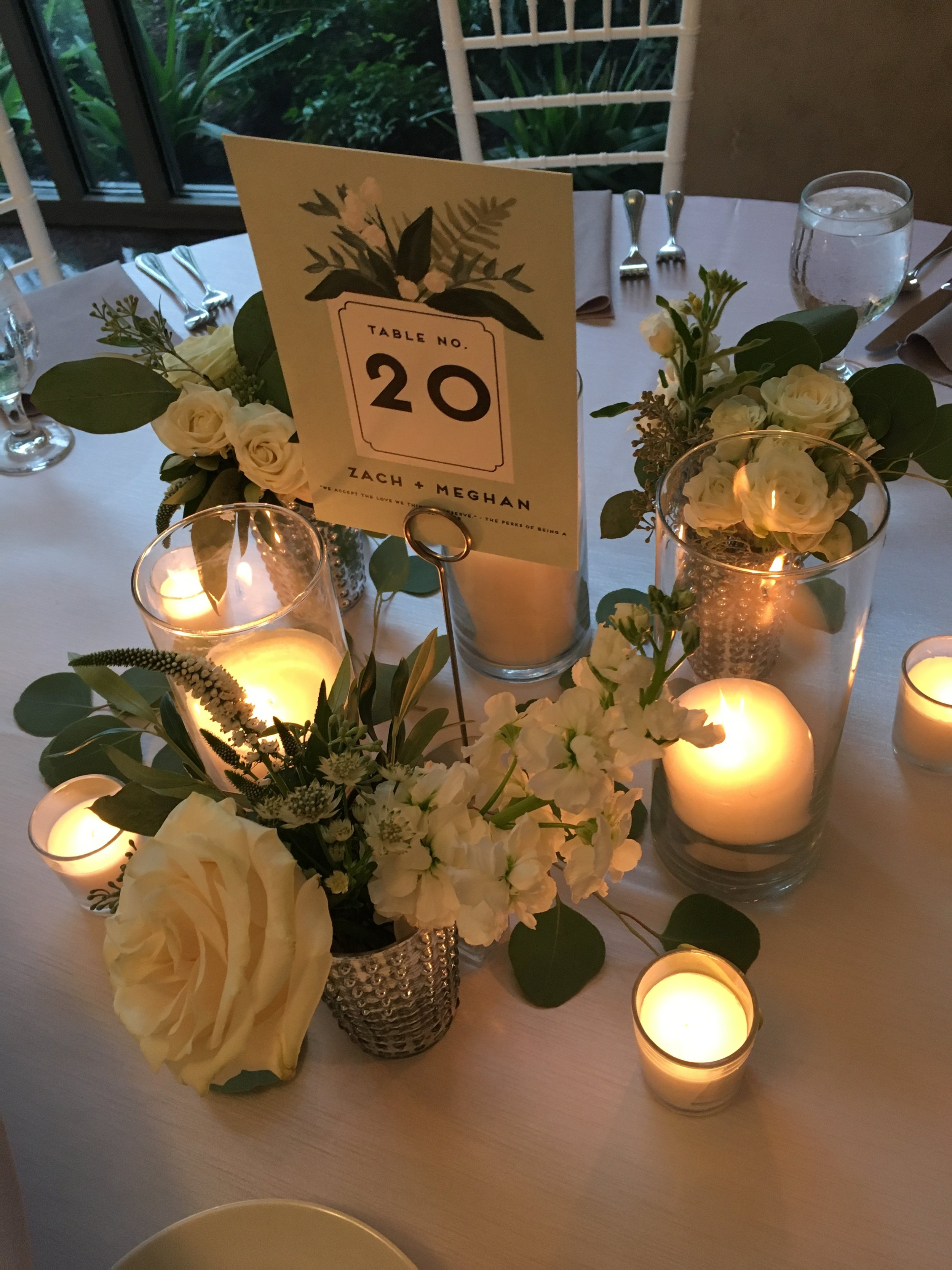 Ah! Loved Meghan's vision for her centerpieces! Courtney did a great job executing!