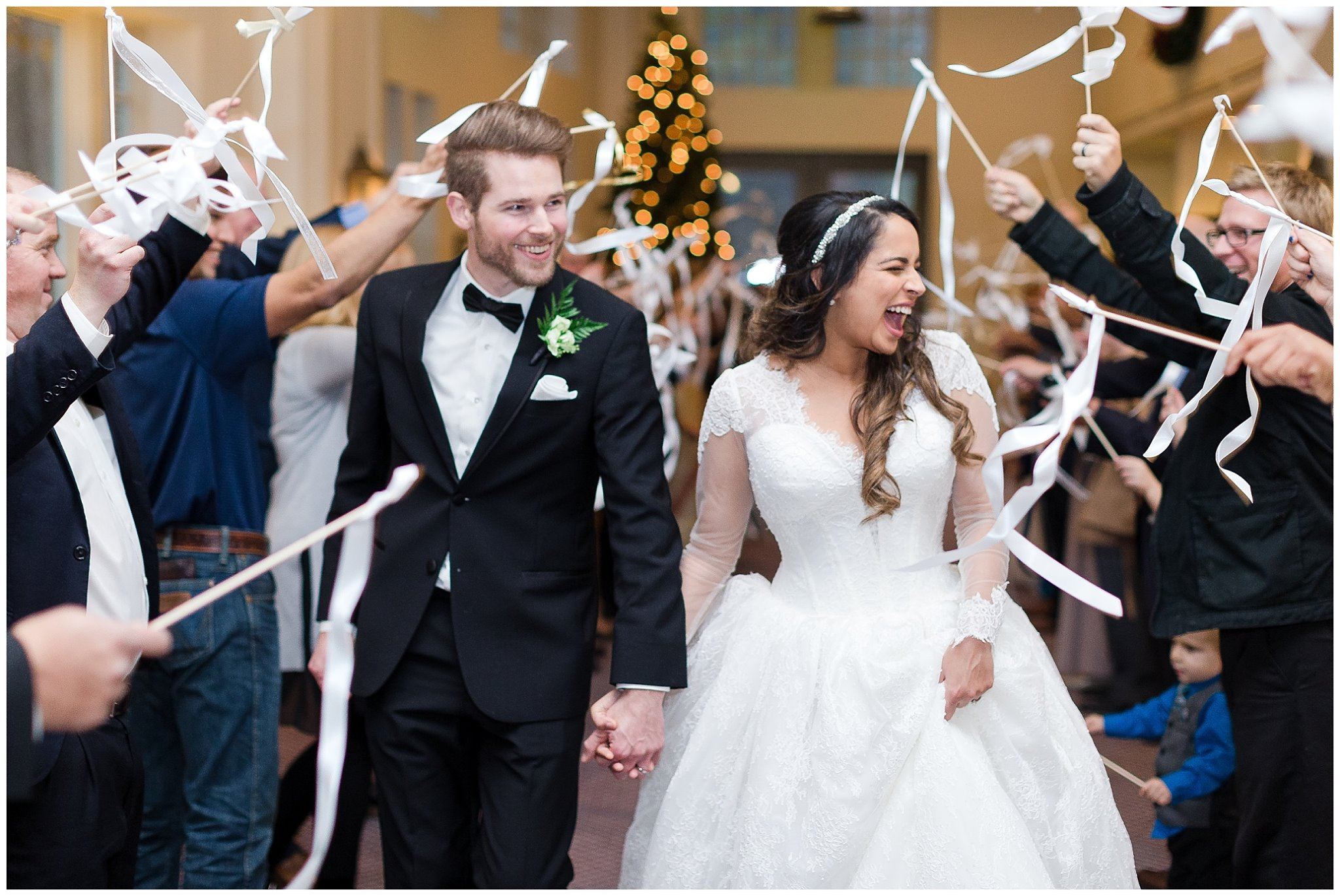 Ending the year with a CHRISTMASTIME wedding is something I've always dreamed would happen for my little business. Then, Jessica had to top everything and wear a Pnina Tornai gown! Seriously, SO BEAUTIFUL!!  Photo: Luke and Ashley Photography