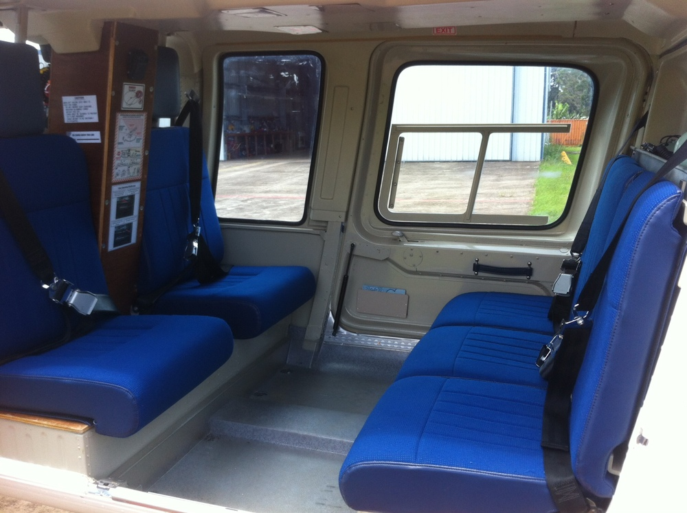 Helicopter passenger charter interior