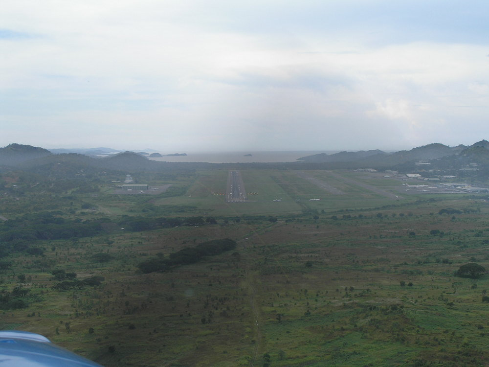 Approach to Port Moresby airport, Papua New Guinea (PNG)