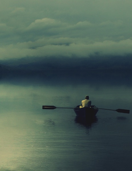 lake-boat-man-paddle-alone-other