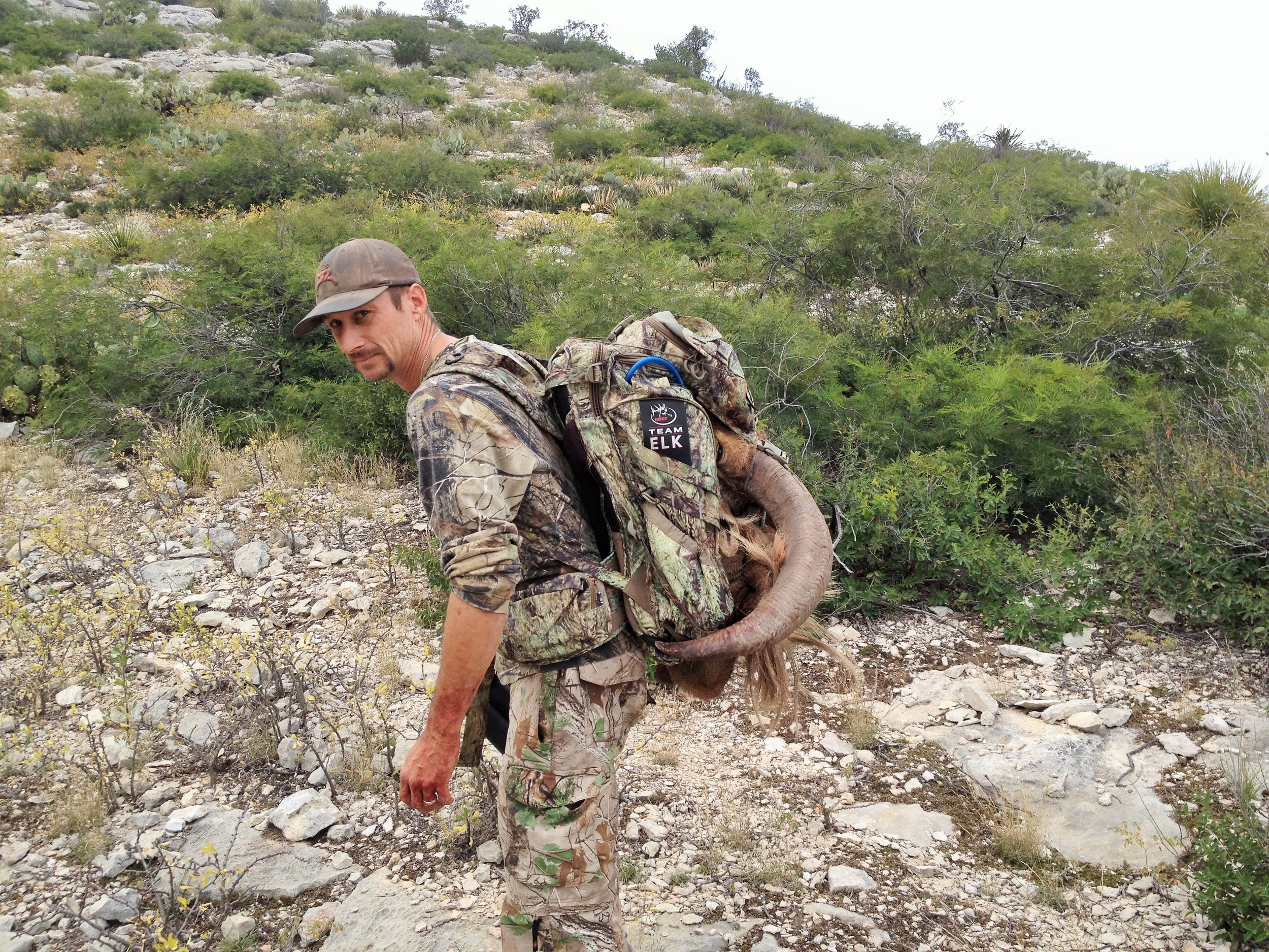 Clint Beckham heading back to camp after another successful hunt!