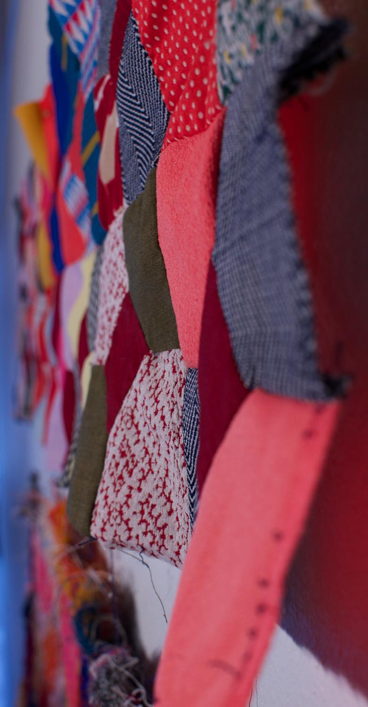 Fiber Art_ Leisure suit quilt detail