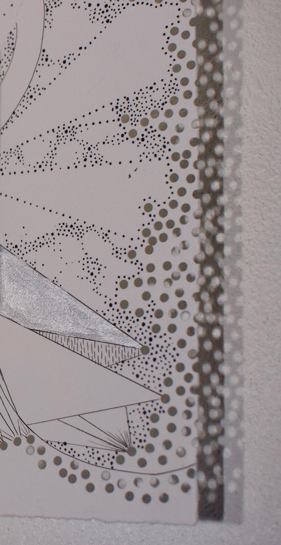 Engraving Drawing detail perforations