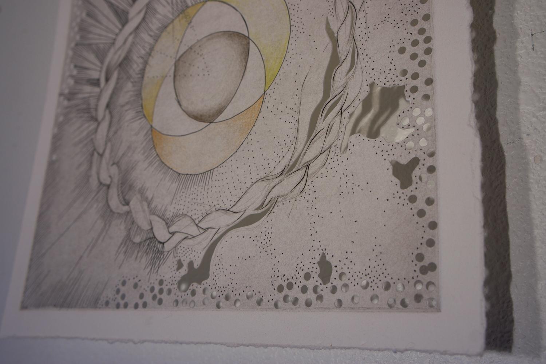 Engraving Drawing_ works on paper printmaking