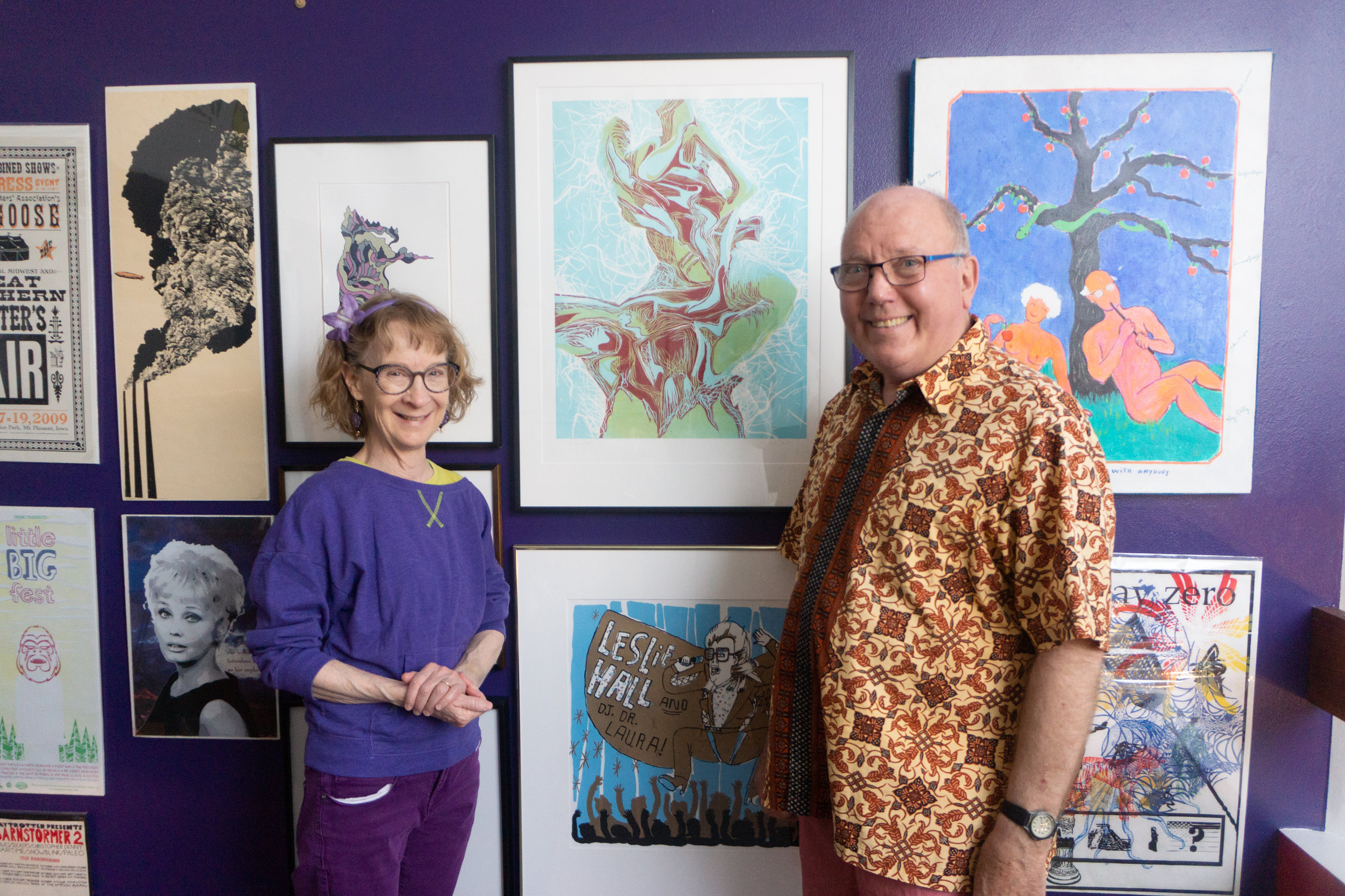Local Artists and Art Collectors with my print!