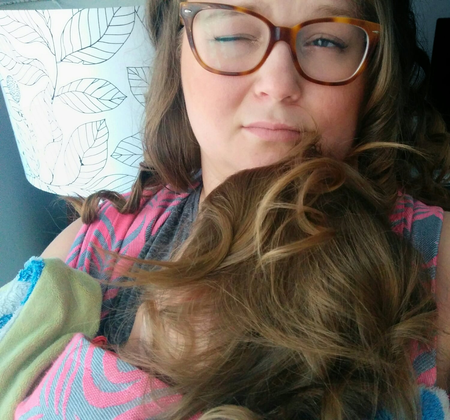 Although I was really enjoying myself, this Peaceful nap with my toddler was not without difficulty. Her hair kept creeping its way to my nose...